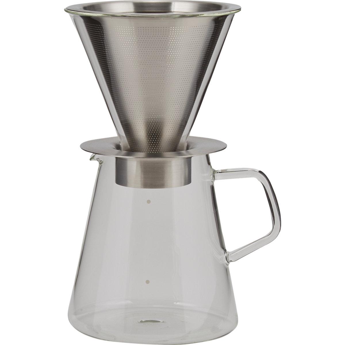 Kinto Carat Coffee Dripper & Pot $70