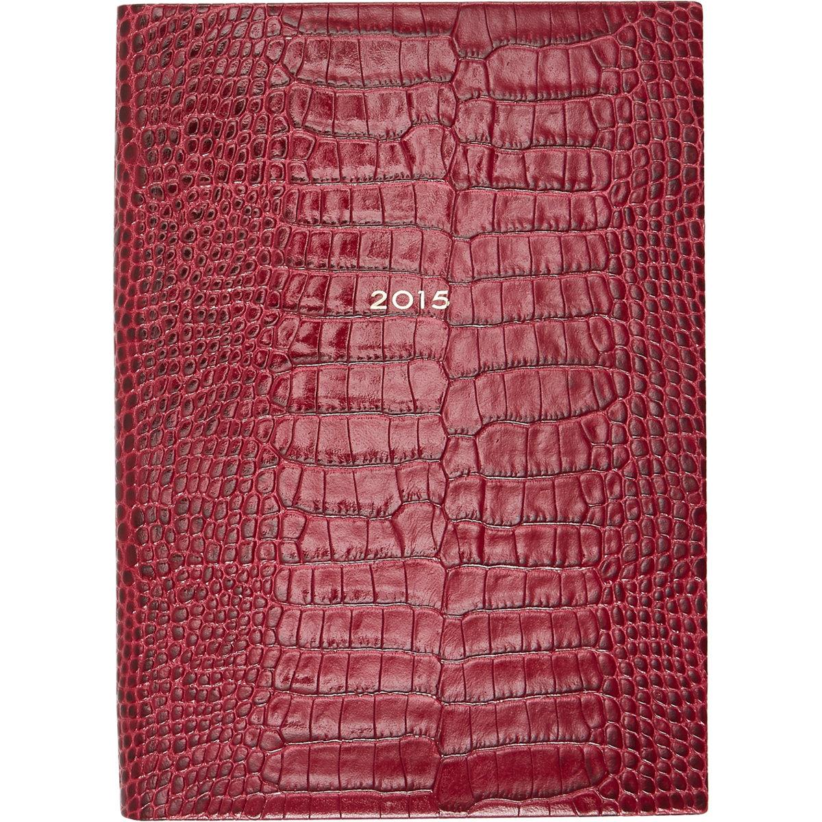 Smythson Soho Croc 2015 Diary $305