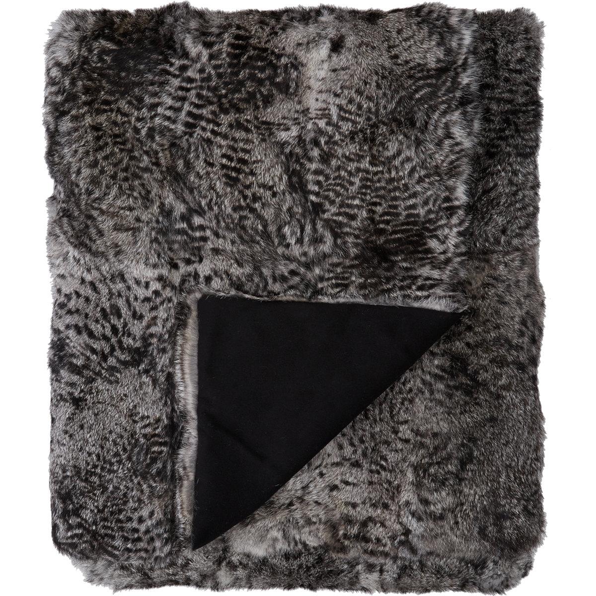 Adrienne Landau Lynx Print Fur Blanket $1,995