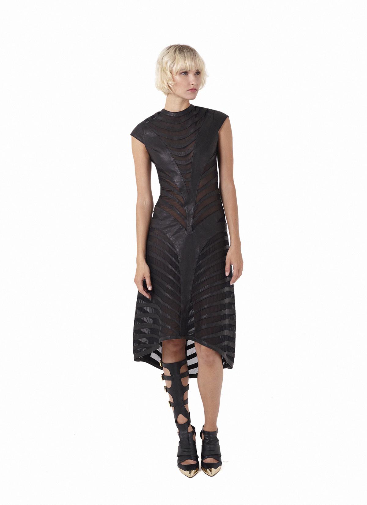 Onyx banded dress