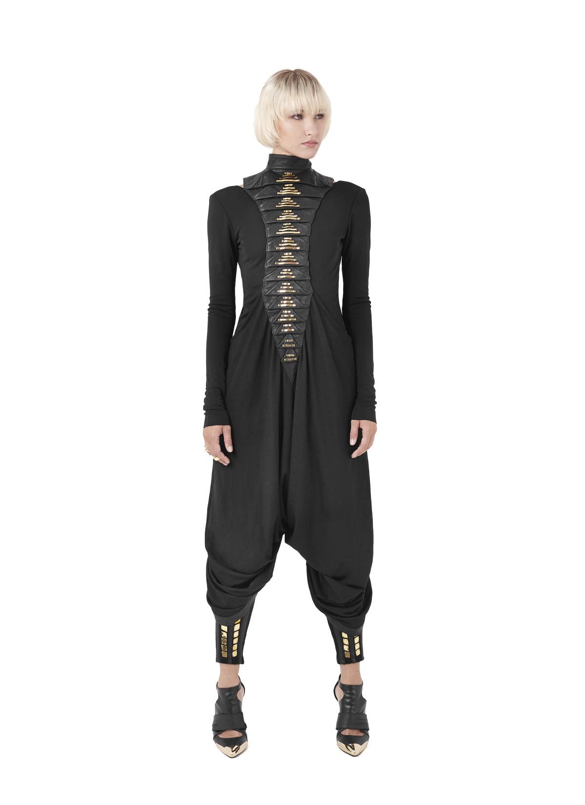 Sillias robe, Scoria dress & Diamond pants