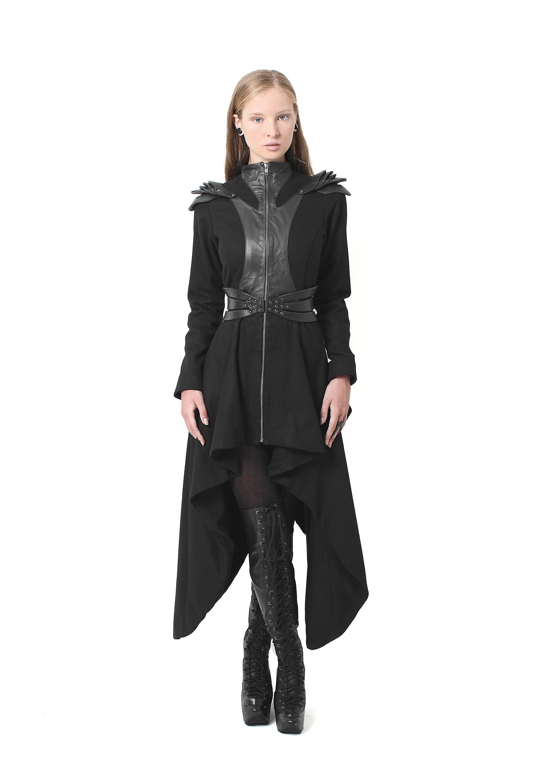 Plated Long Coat, Long Plated Boots