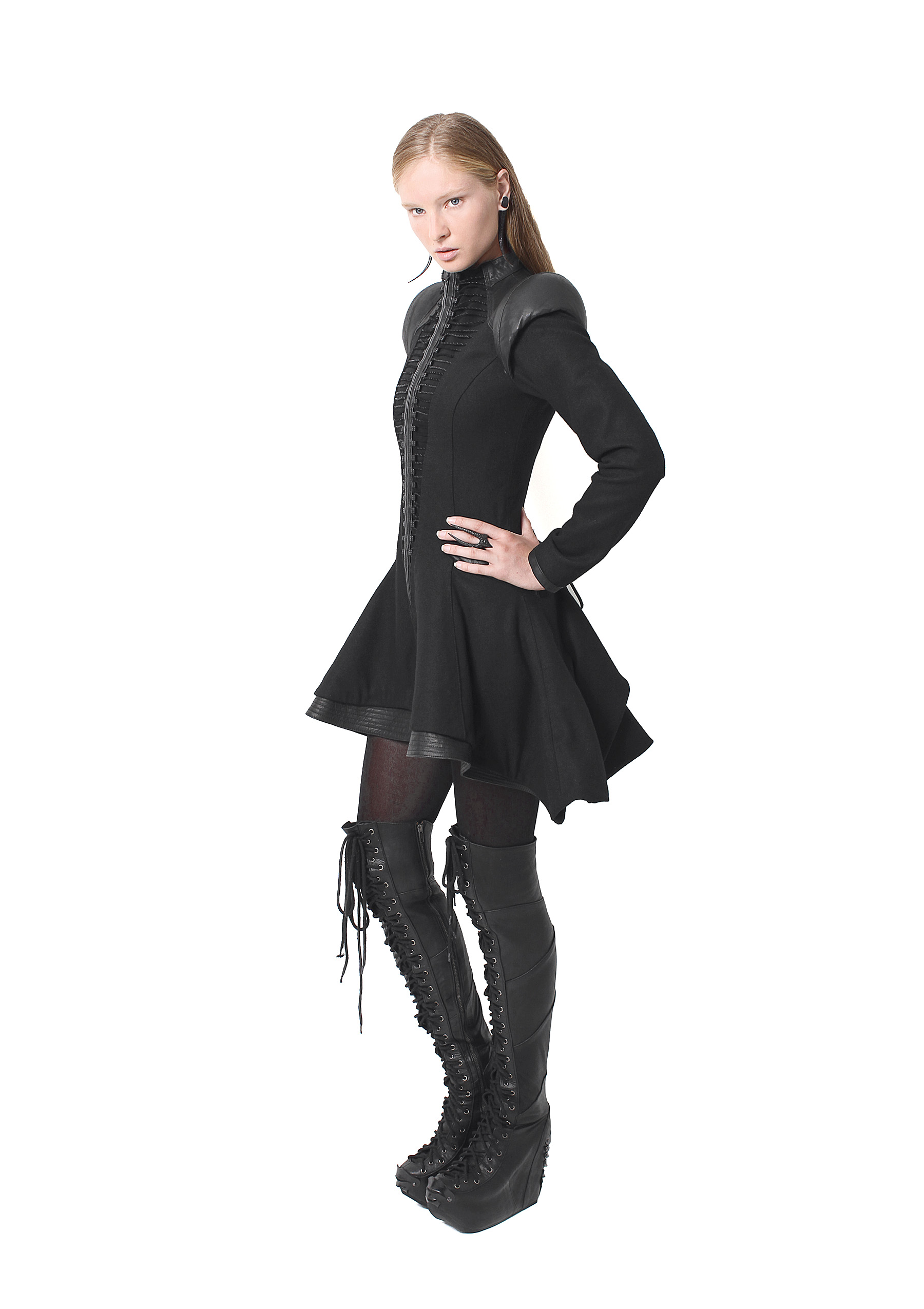 Stagger Frock Jacket, Long Plated Boots
