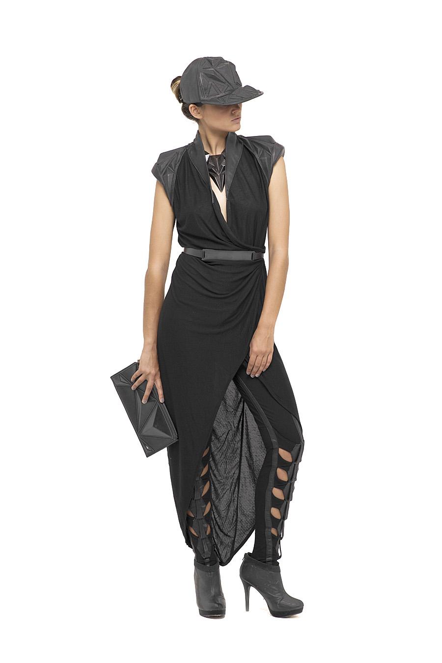 Var Shoulder Dress, Dragonfly Leggings