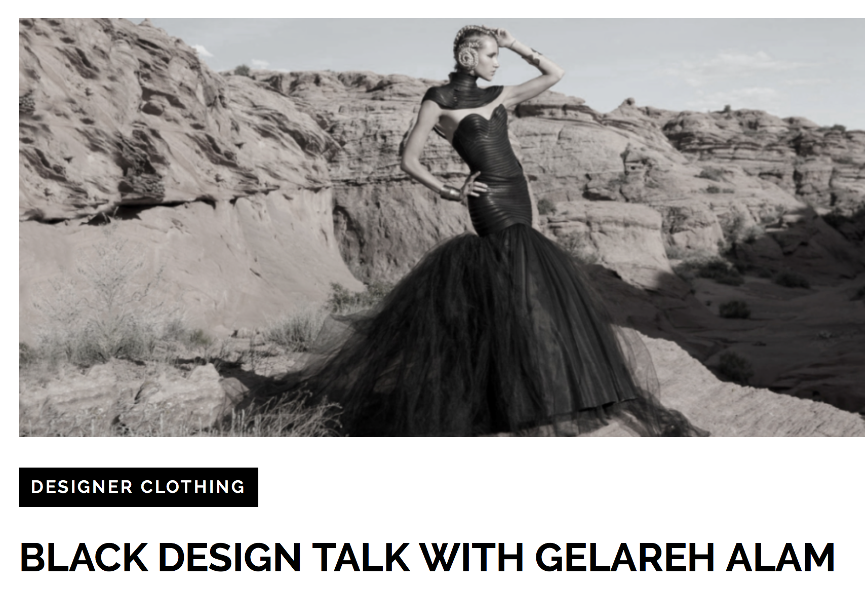 interview with Gelareh by Design Code Black