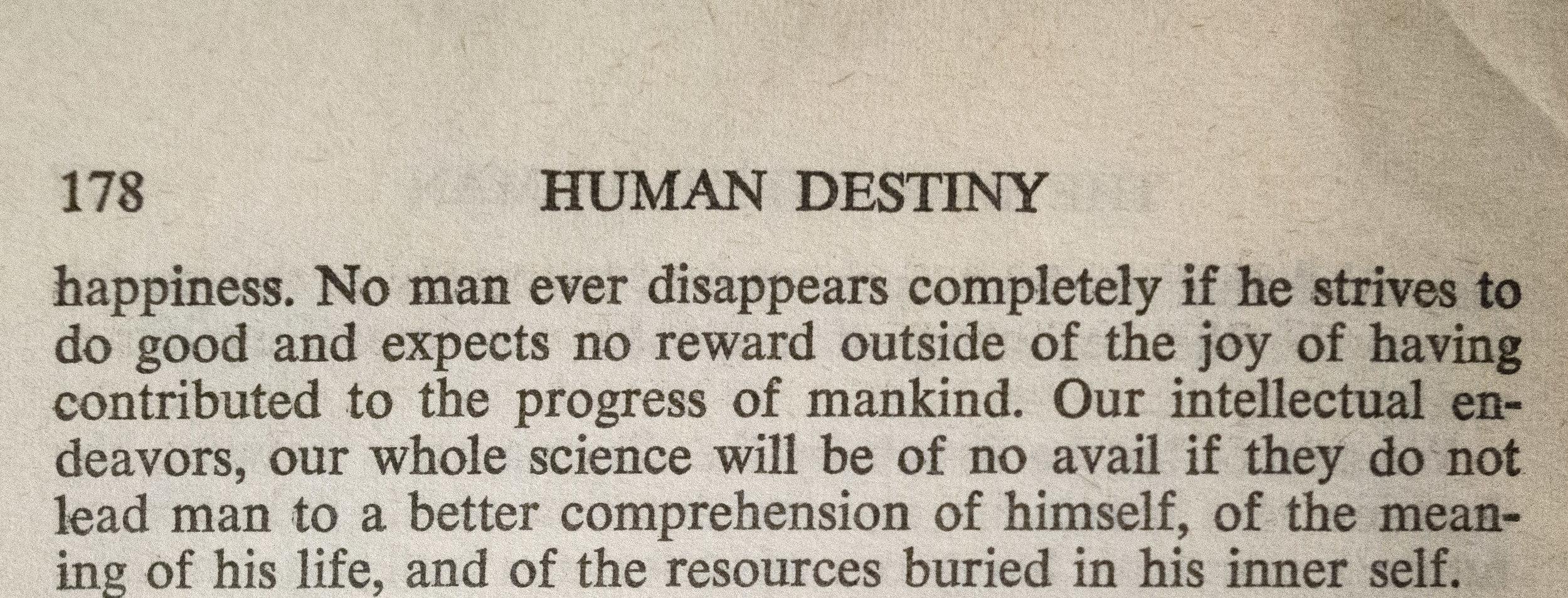 Lecomte du Nouy - Human Destiny