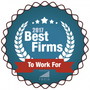 Best Firms to Work For 2017 - The Zweig Best Firms to Work For award recognizes the top architecture, structural engineering, civil engineering, environmental, geotechincal engineering, landscape architecture/planning, and multidiscipline firms in the US and Canada based on their workplace practices, employee benefits, employee retention rates, and much more.Thank you to all employees for making CORE a great place to work!