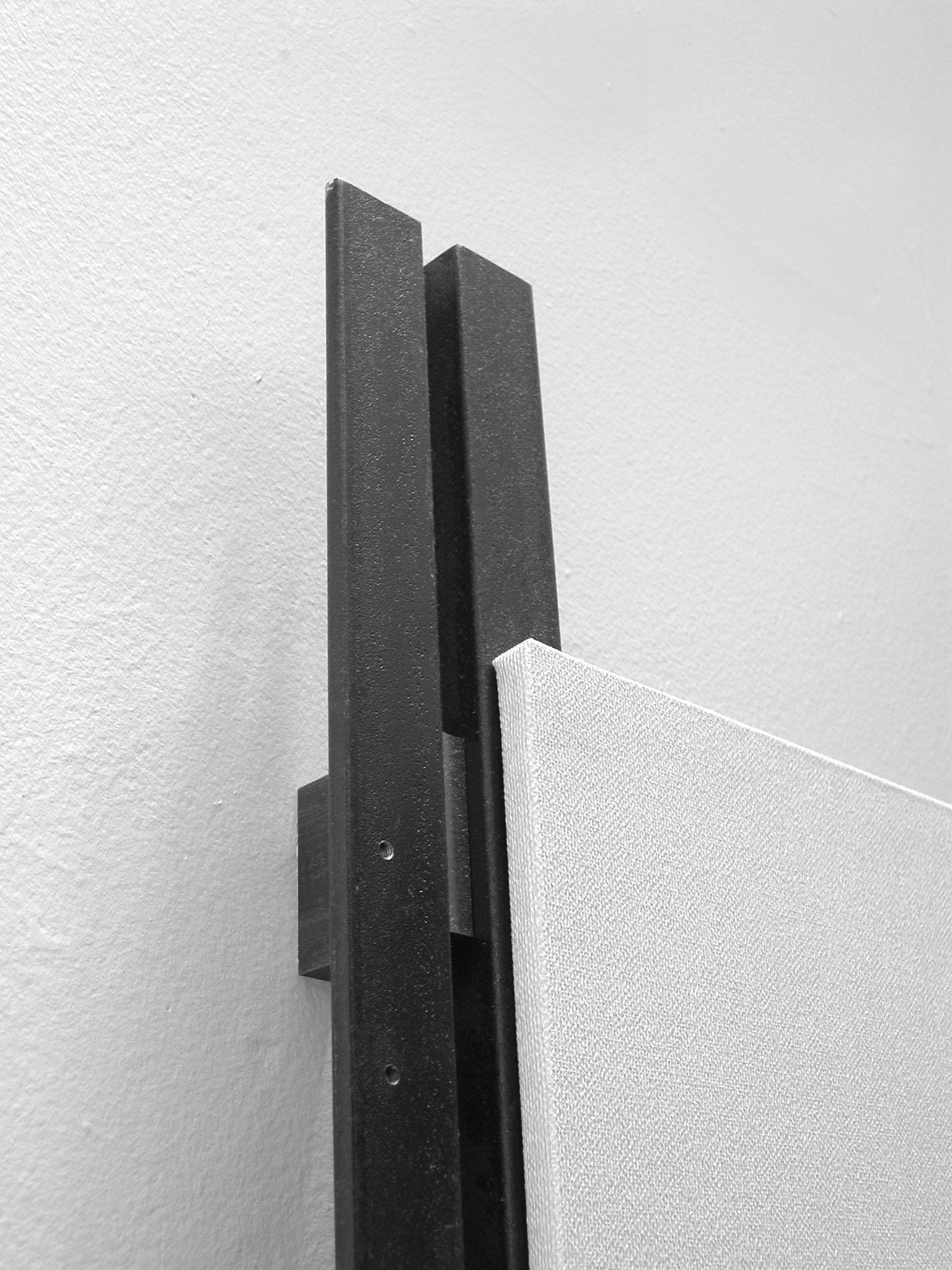 Detail - Upper Left Corner. Tab Between Vertical Rails