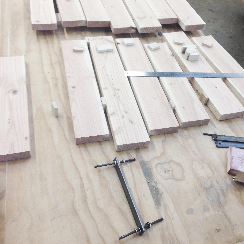 Mock Up with steel hinge