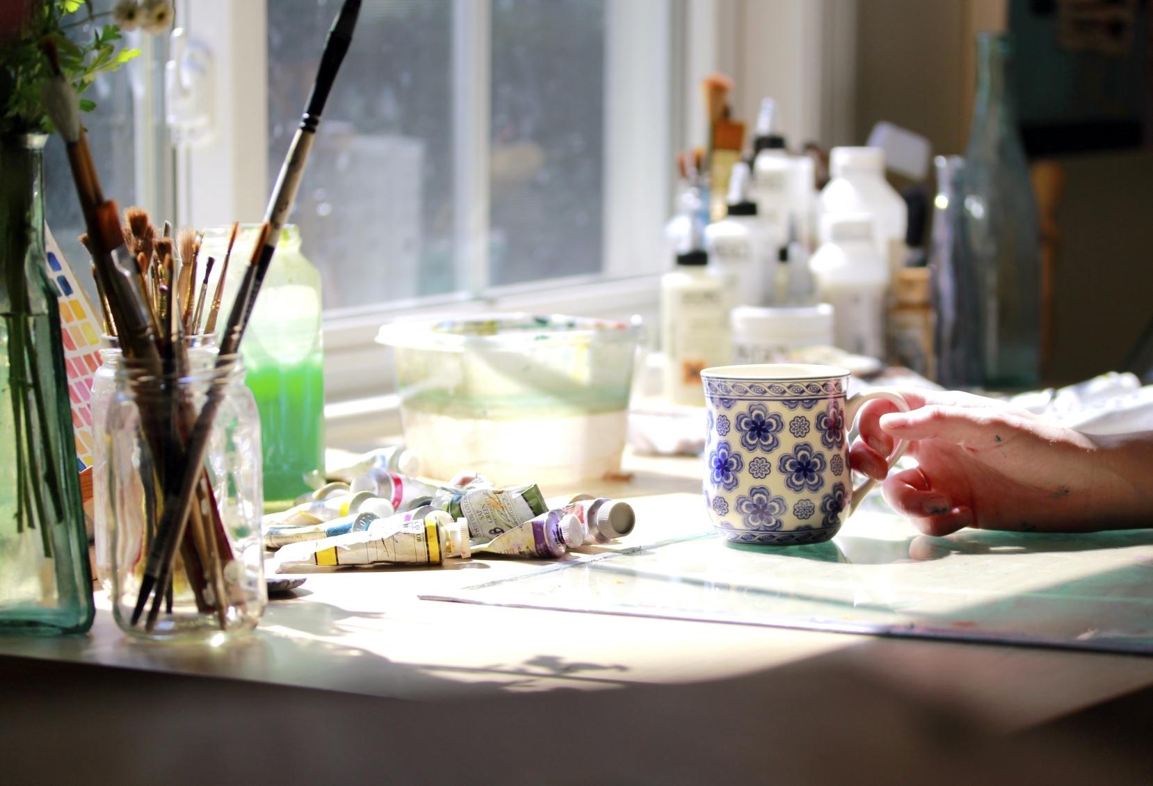 Hope Olson art studio