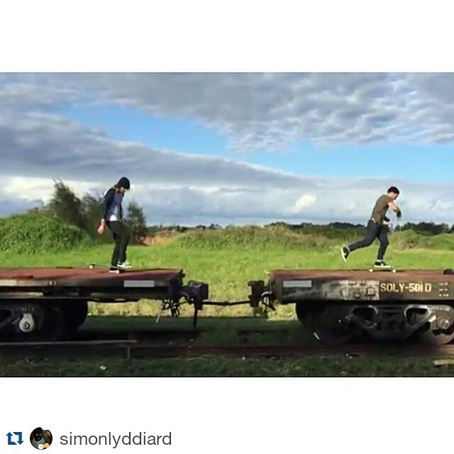 #Repost @simonlyddiard ・・・ Hopping trains. So much fun was had making this clip. Go have a look on the @axis_wheels bio for the link.