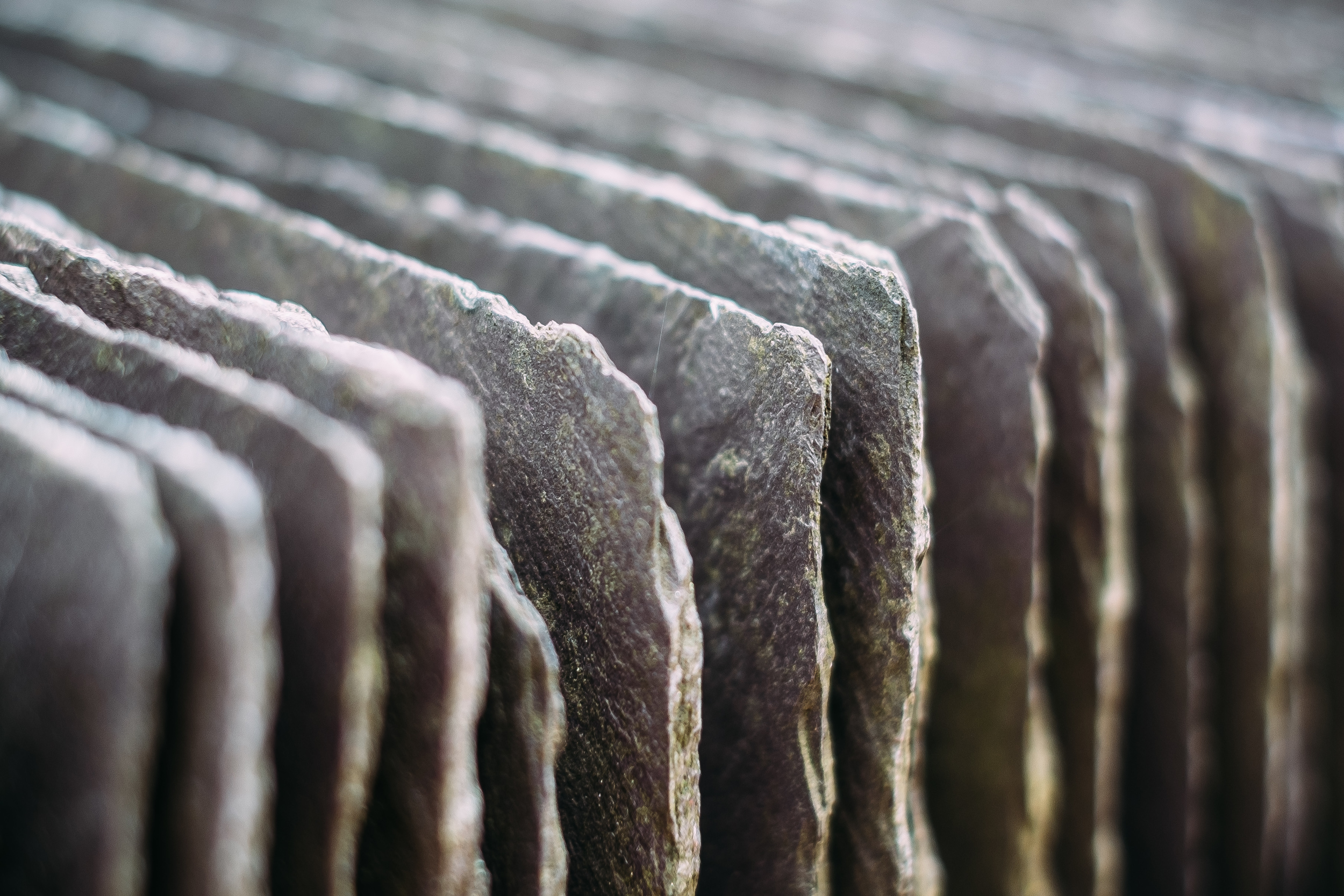 Stacks of slate at the National Slate Museum. X-Pro1 + XF 35mm f/1.4 @ f/2.2. ISO200. 1/110.