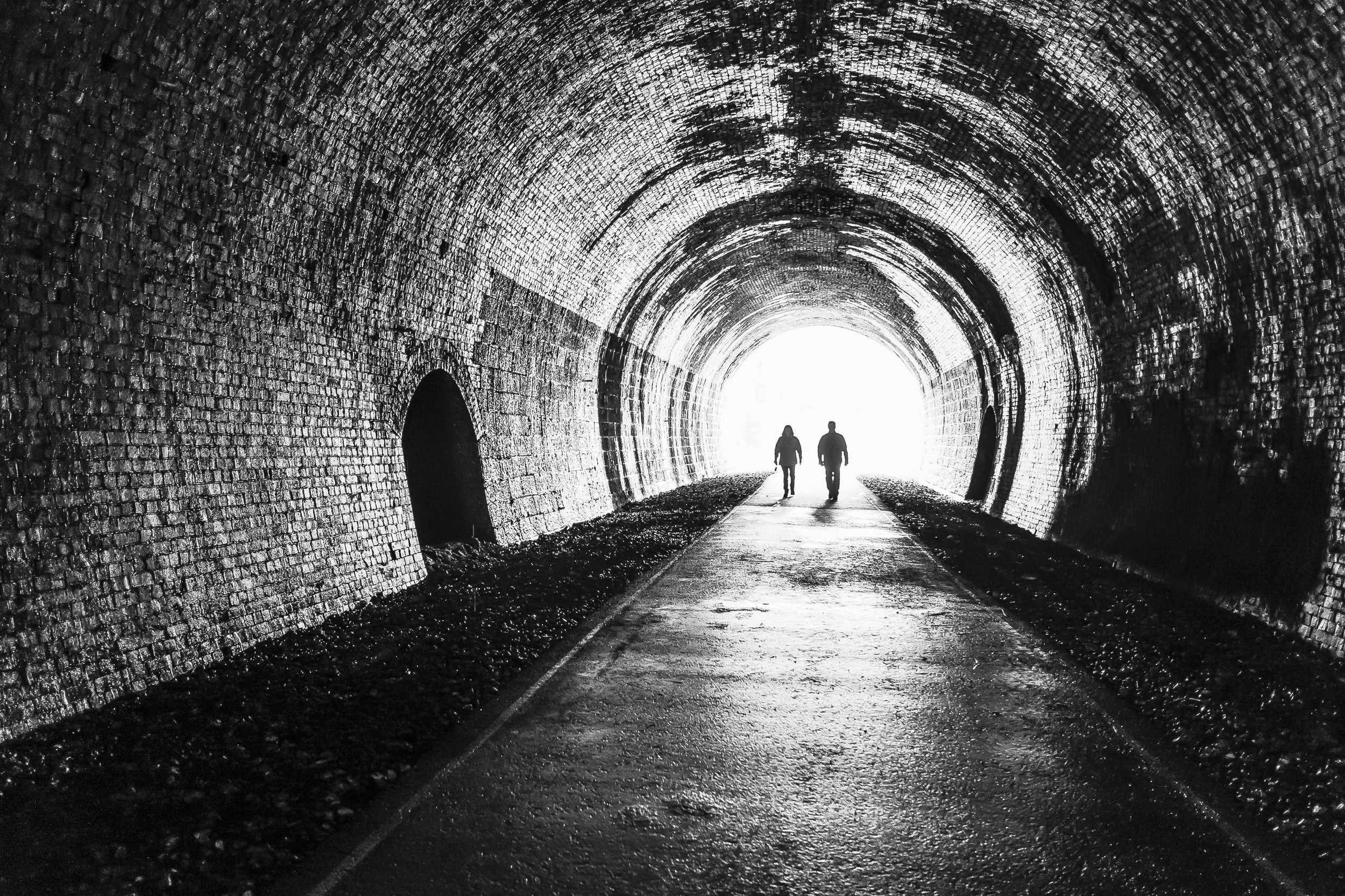 """Light at the End of the Tunnel"" - Monsal Trail, England. Fujifilm X-Pro1 + 18mm f/2 @ f/2. 1/50."
