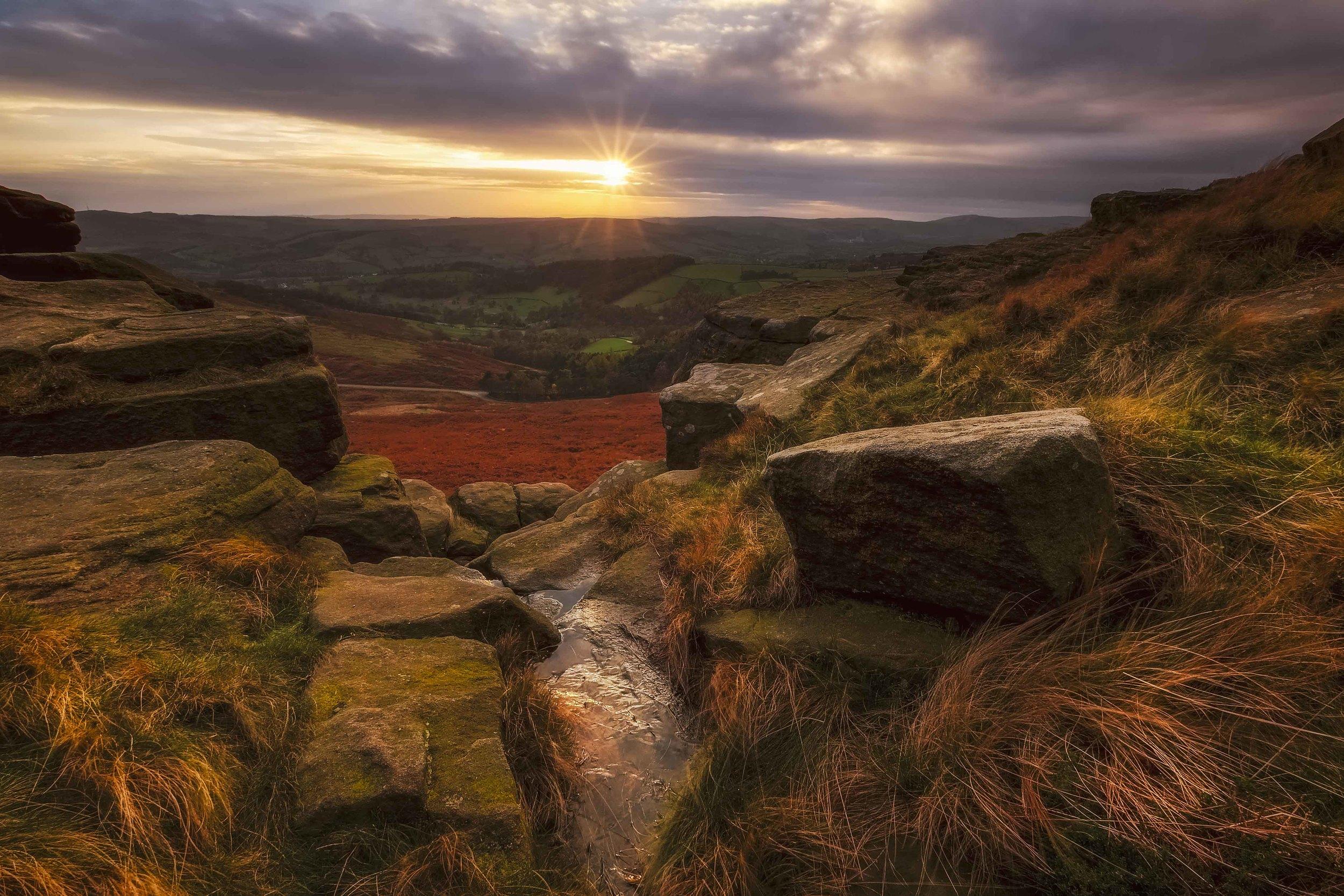 """Rugged Edge"" - Stanage Edge, Peak District, England Fujifilm X-T1 + 10-24mm f/4 OIS @ f/22. 1/3."