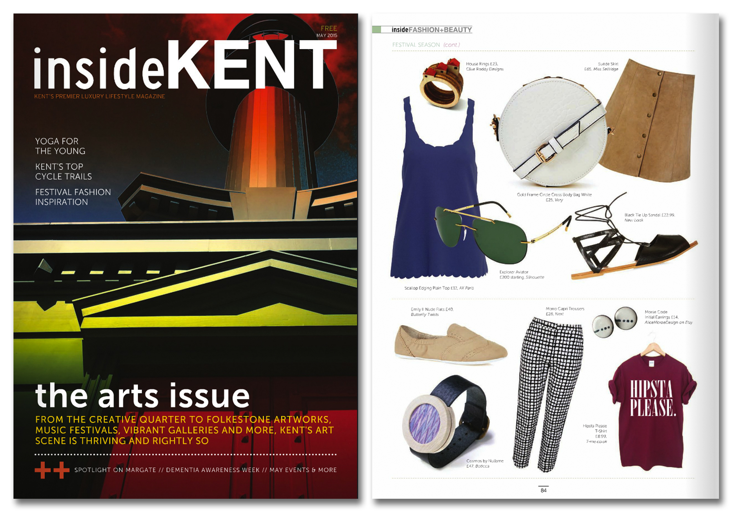 'House Rings' featured in Inside Kent Magazine. Published in May 2015.