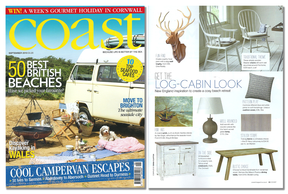 "'Stag Head Trophy' featured in ""Coast' magazine. Published in August 2016. UK."