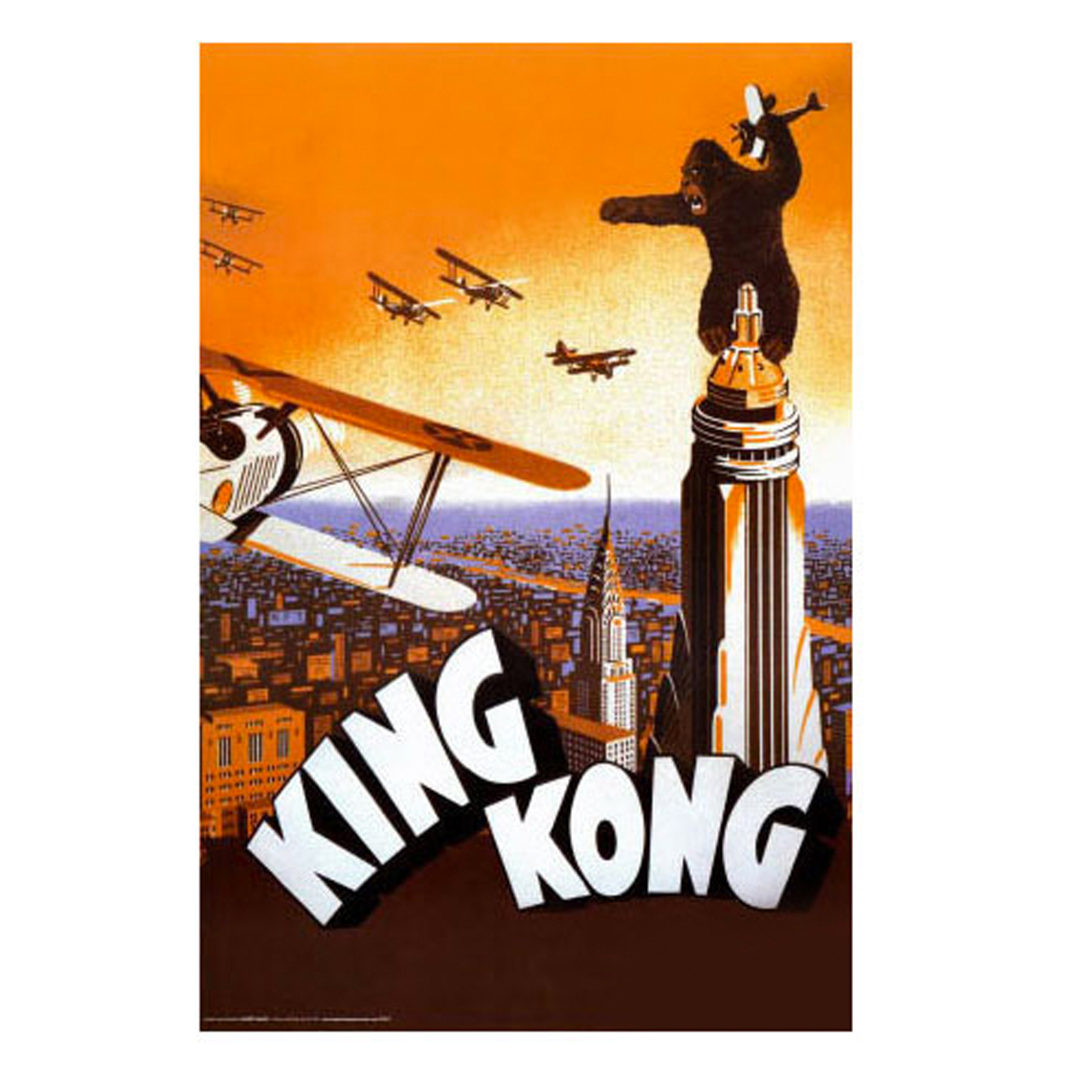Original 1933 King Kong poster that inspired the painting