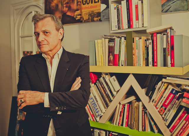 JC De Castelbaljac, the maitre of the party for Glamour Magazine