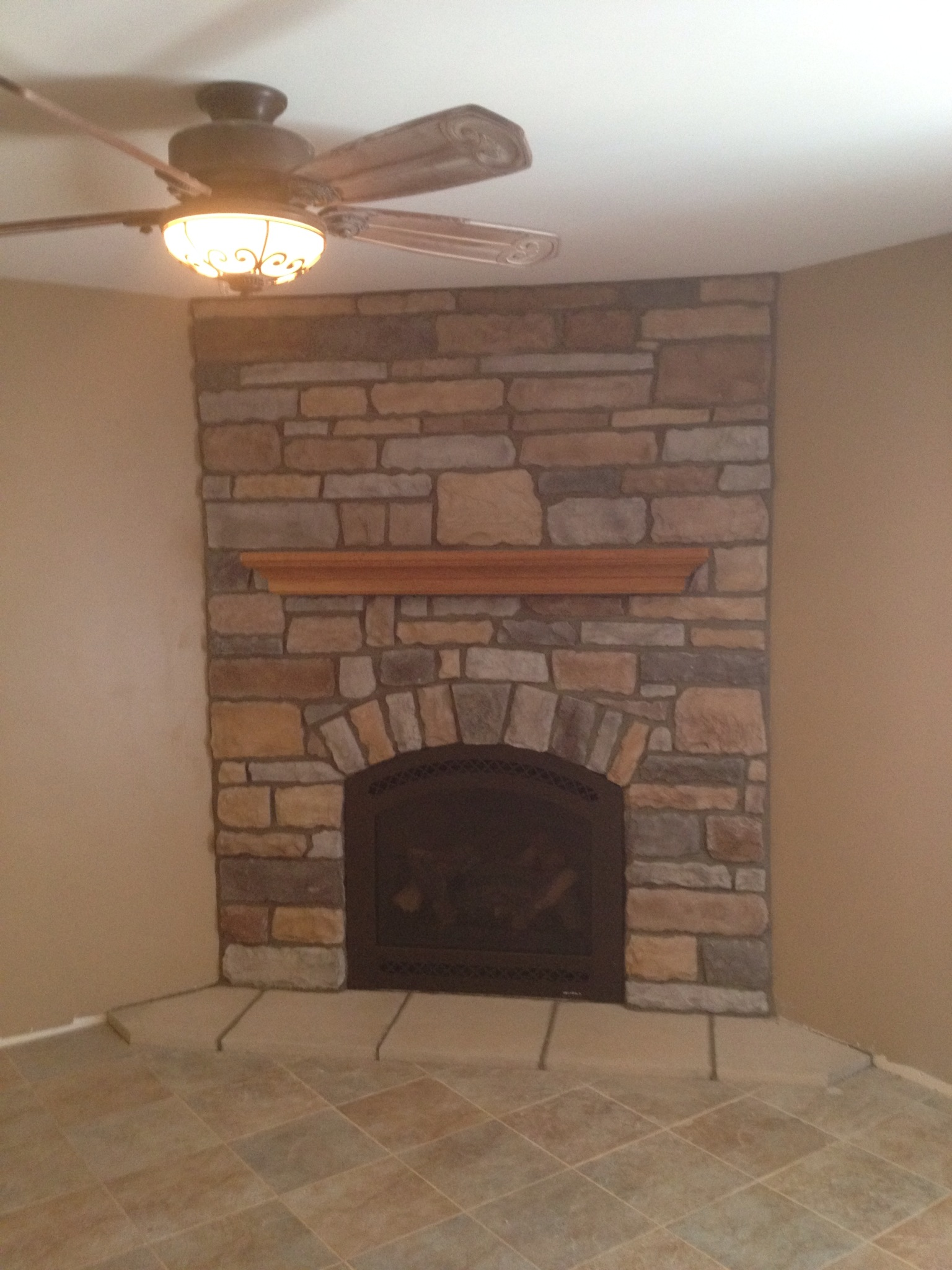 Cerona w/ Stone Work and Mantel