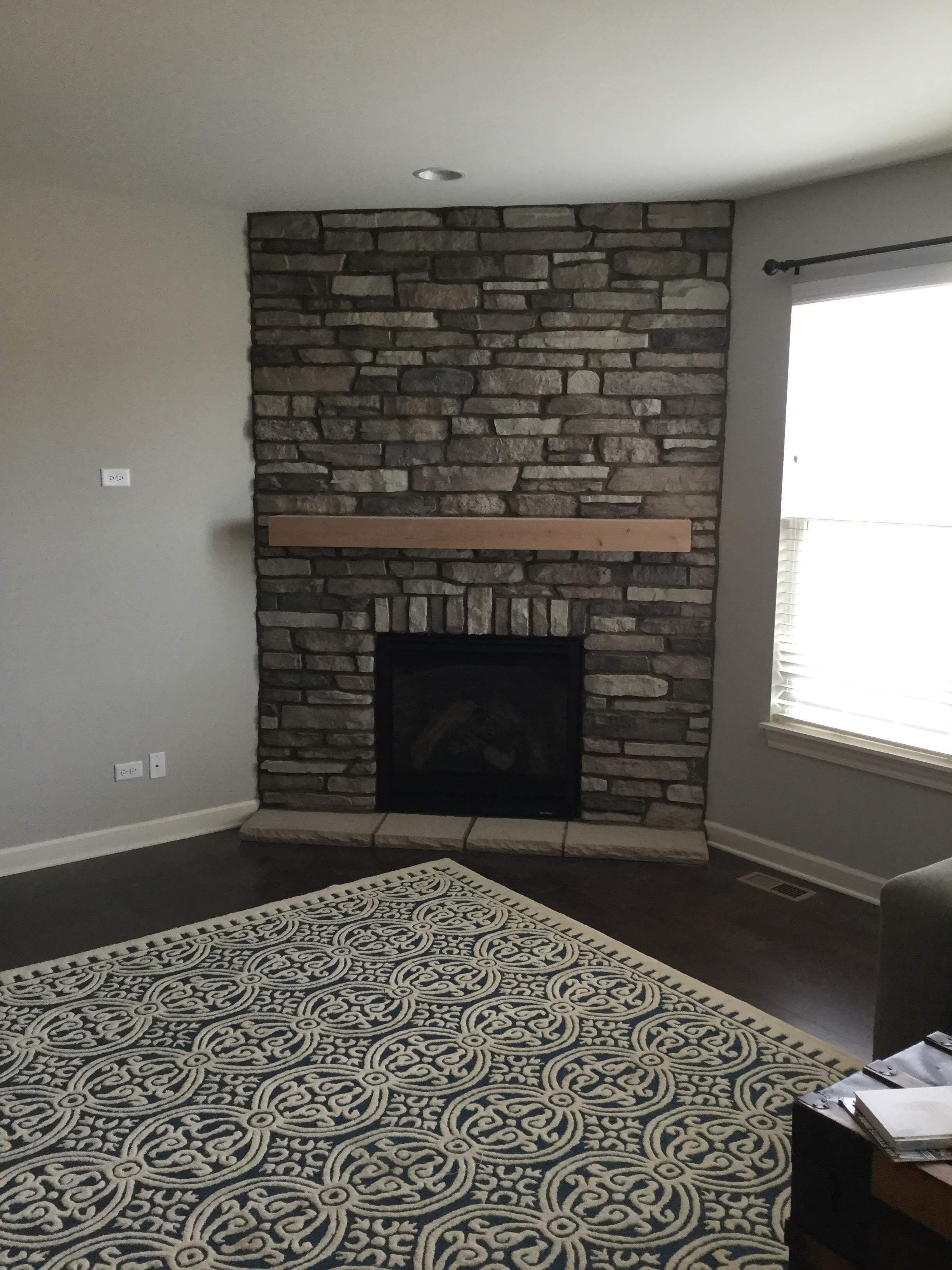 6000CLX with stone work and mantel