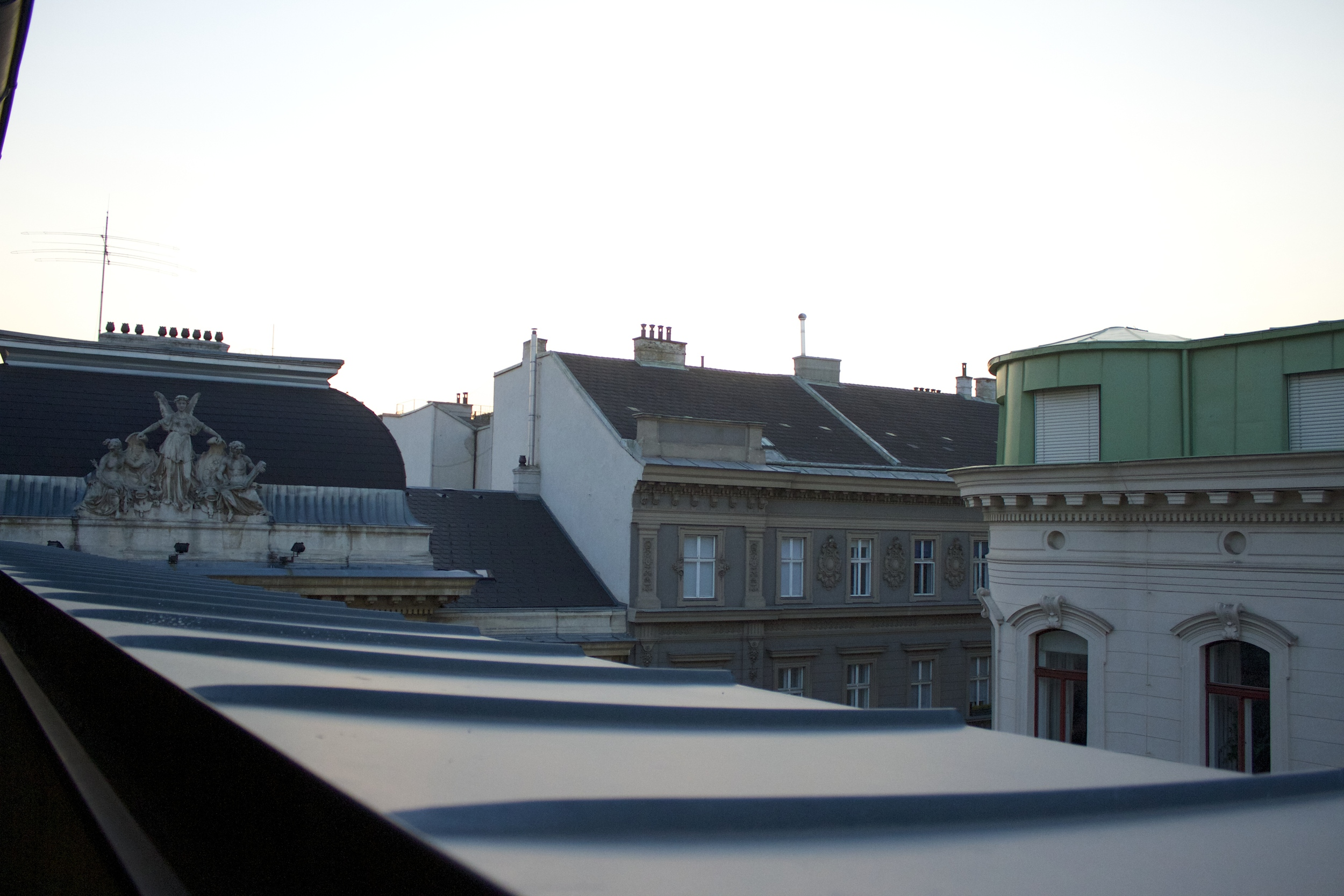 Partial view from our first balcony.