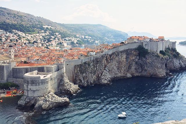 The stunning city walls of Dubrovnik, Croatia.