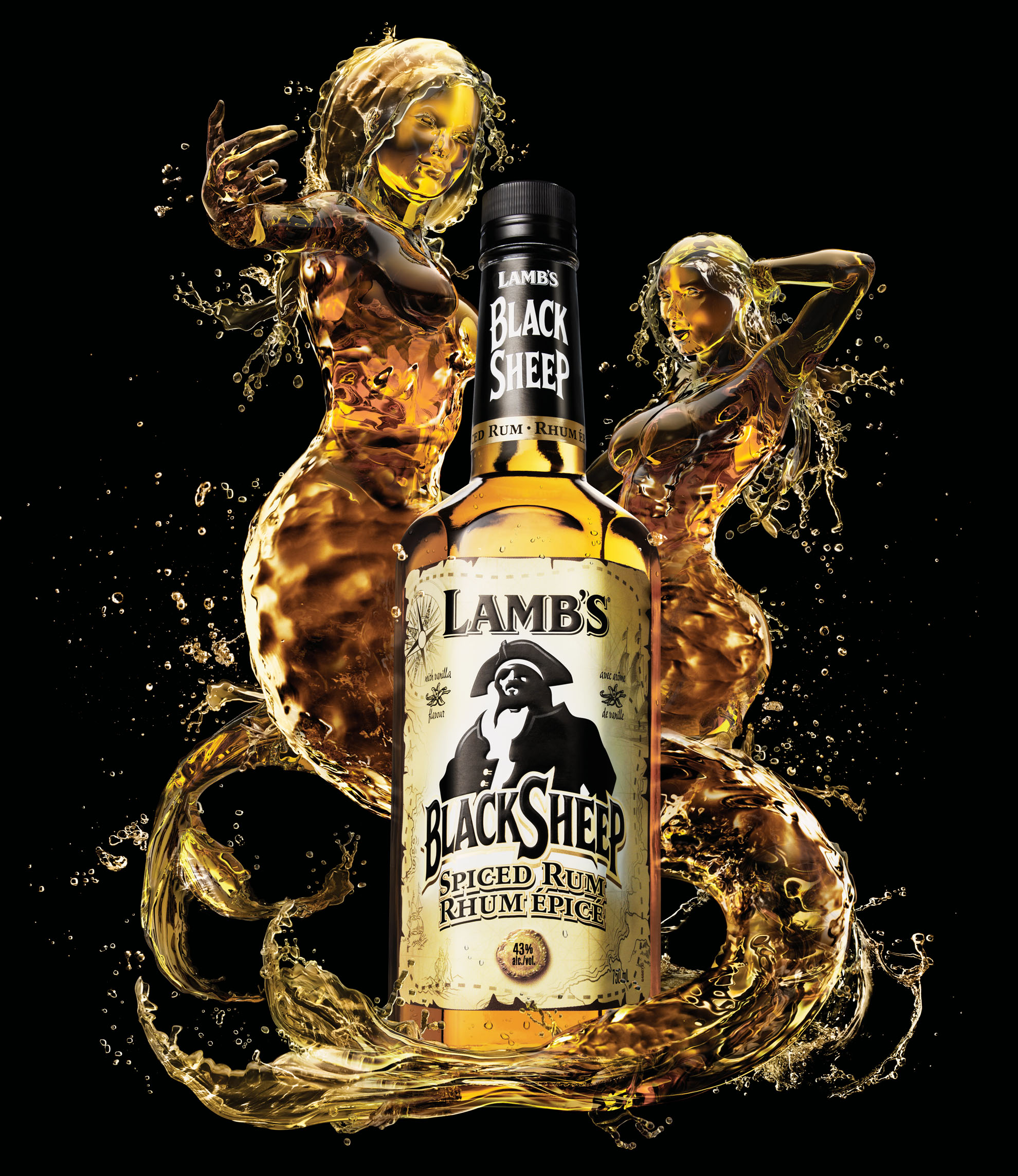 Agency • Smith Roberts  Client • Lamb's Rum  Art Director • Gerald Flach  Photographer • Philip Rostron  CGI and imaging • Brad Pickard