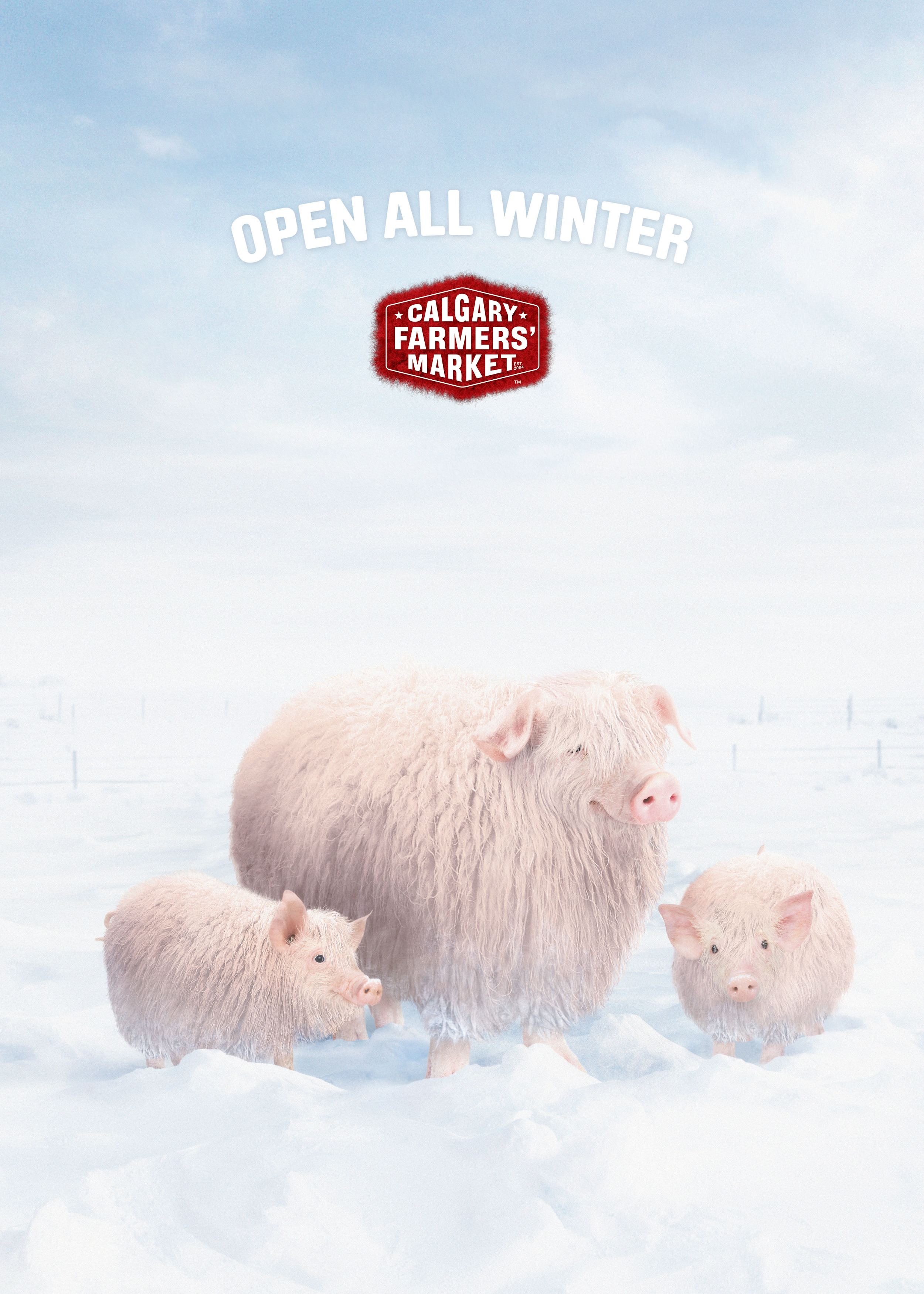 Featured in Luerzer's Archive 200 Best Digital Artists   Agency • Wax  Client • Calgary Farmers Market  Art Director •   Brad Connell  Writer • Chris Lihou  Photography • Brad Pickard / Stock  CGI fur • Brad Pickard