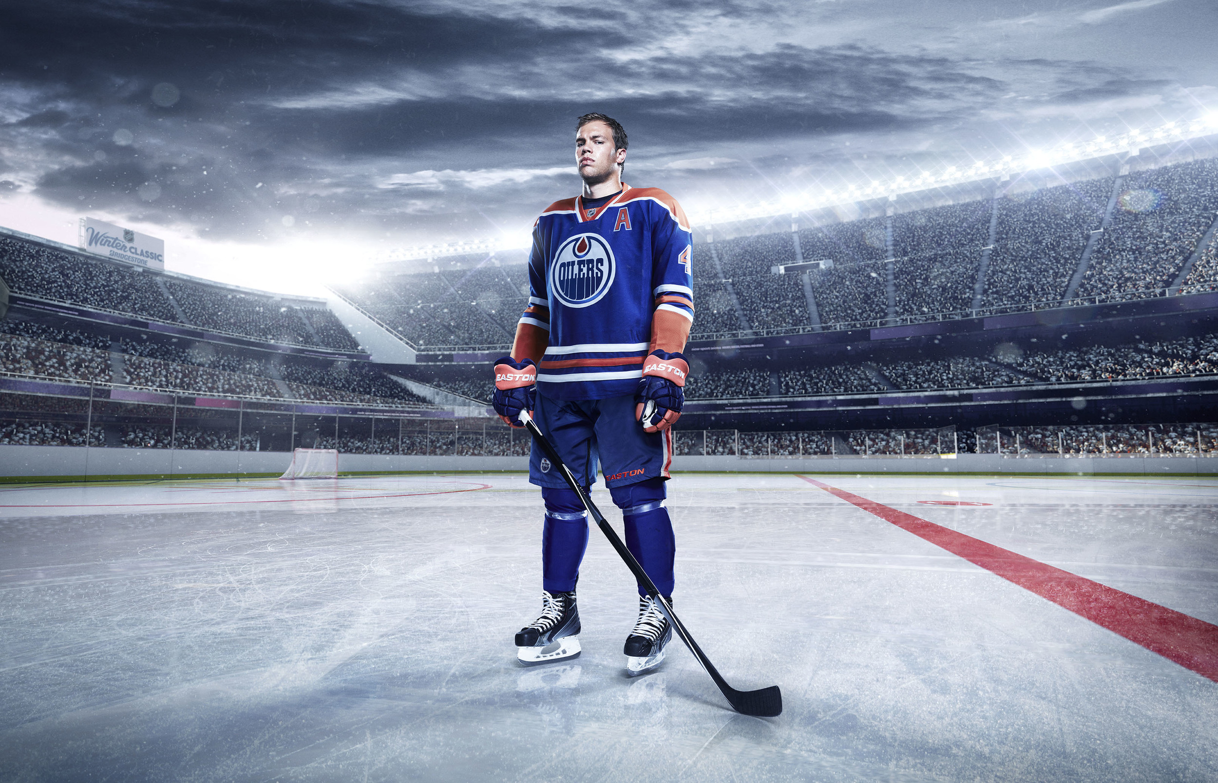 Taylor Hall - Oilers  Photographer • Aaron Cobb  Compositing and CGI • Brad Pickard
