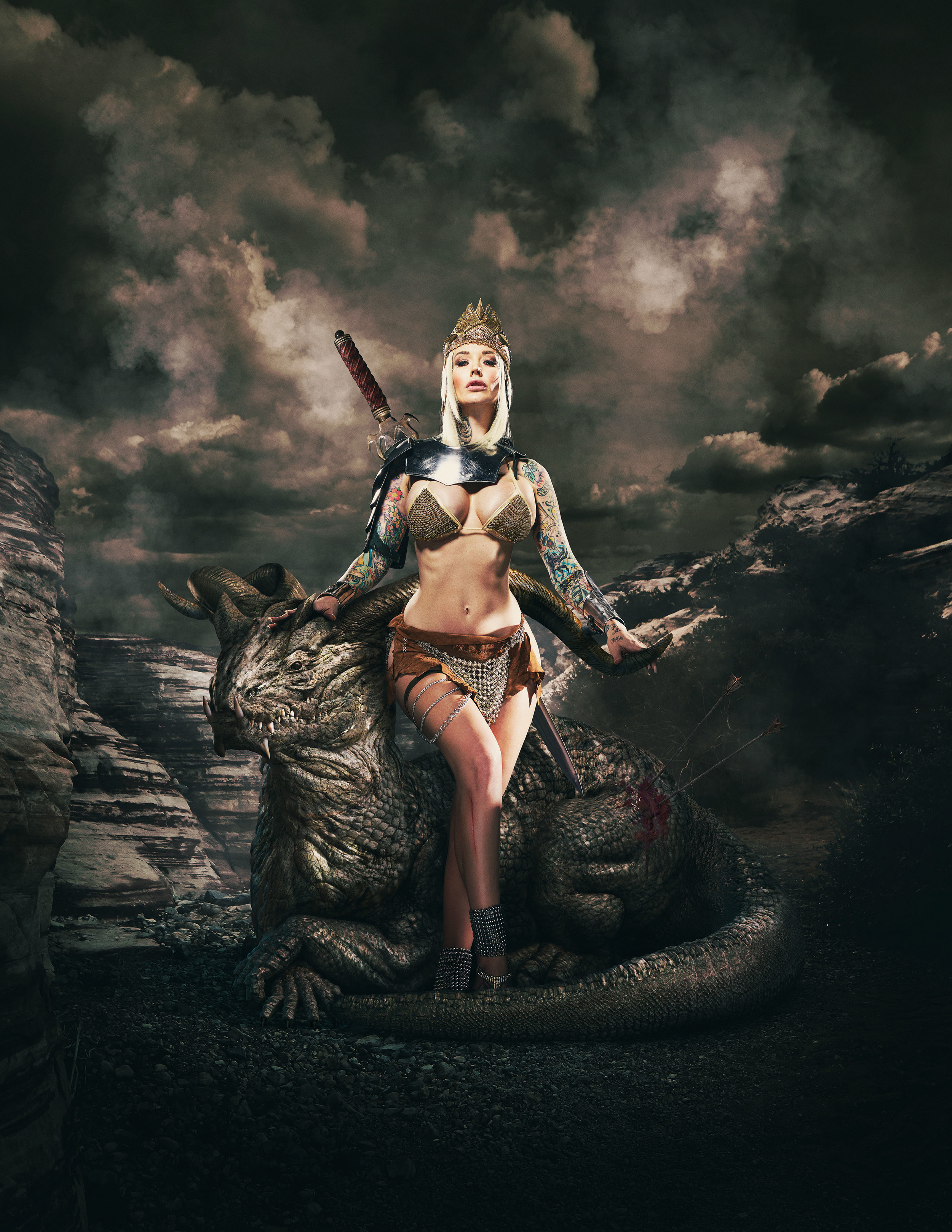 Featured in Luerzer's Archive 200 Best Digital Artists   Fantasy art collaboration  Sabina Kelley  Photography • Matt Barnes  cgi • Brad Pickard