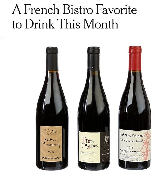 Great advice from @ericasimov - drink more #ChateauYvonne! Fantastic to see the #IleQuatreSous in this month's @nytimes #wineschool.
