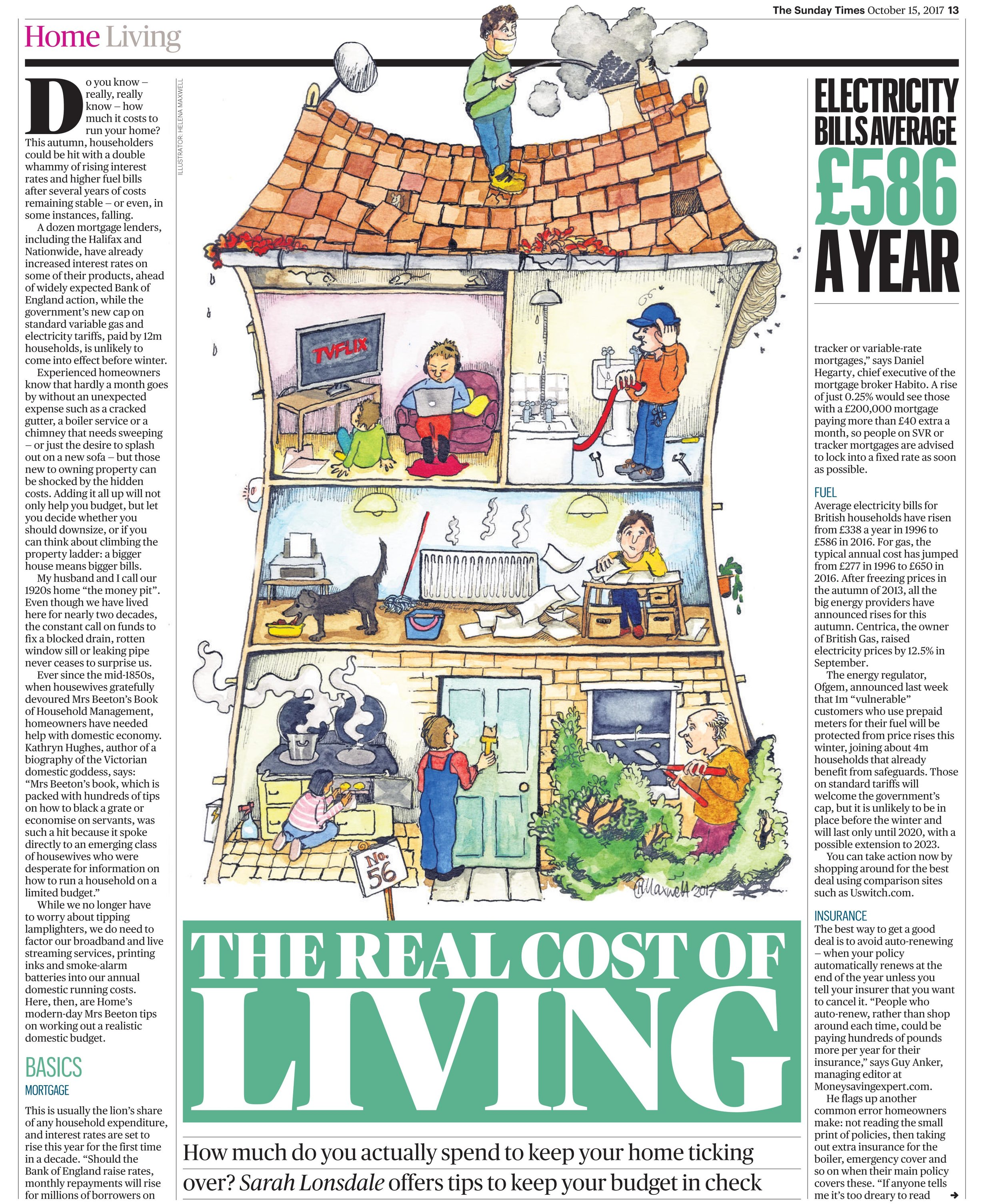 The Real Cost of Living Sunday Times Home, October 2017