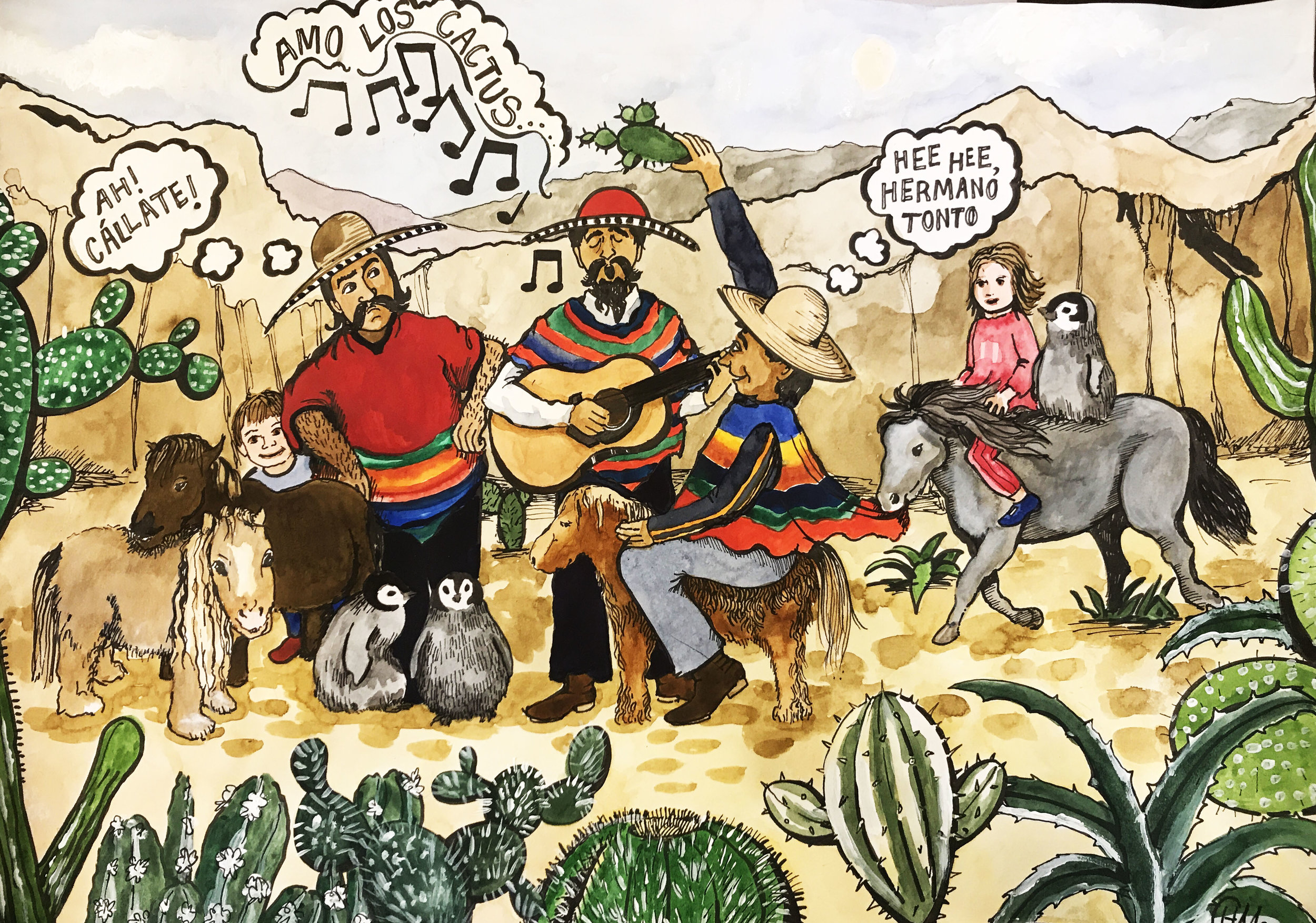 Three Mexican Brothers - Private Commission December 2017
