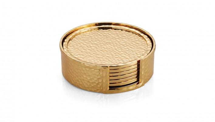Golden Rule - Hammered coasters by Michael Aram | MSH Agency.jpg