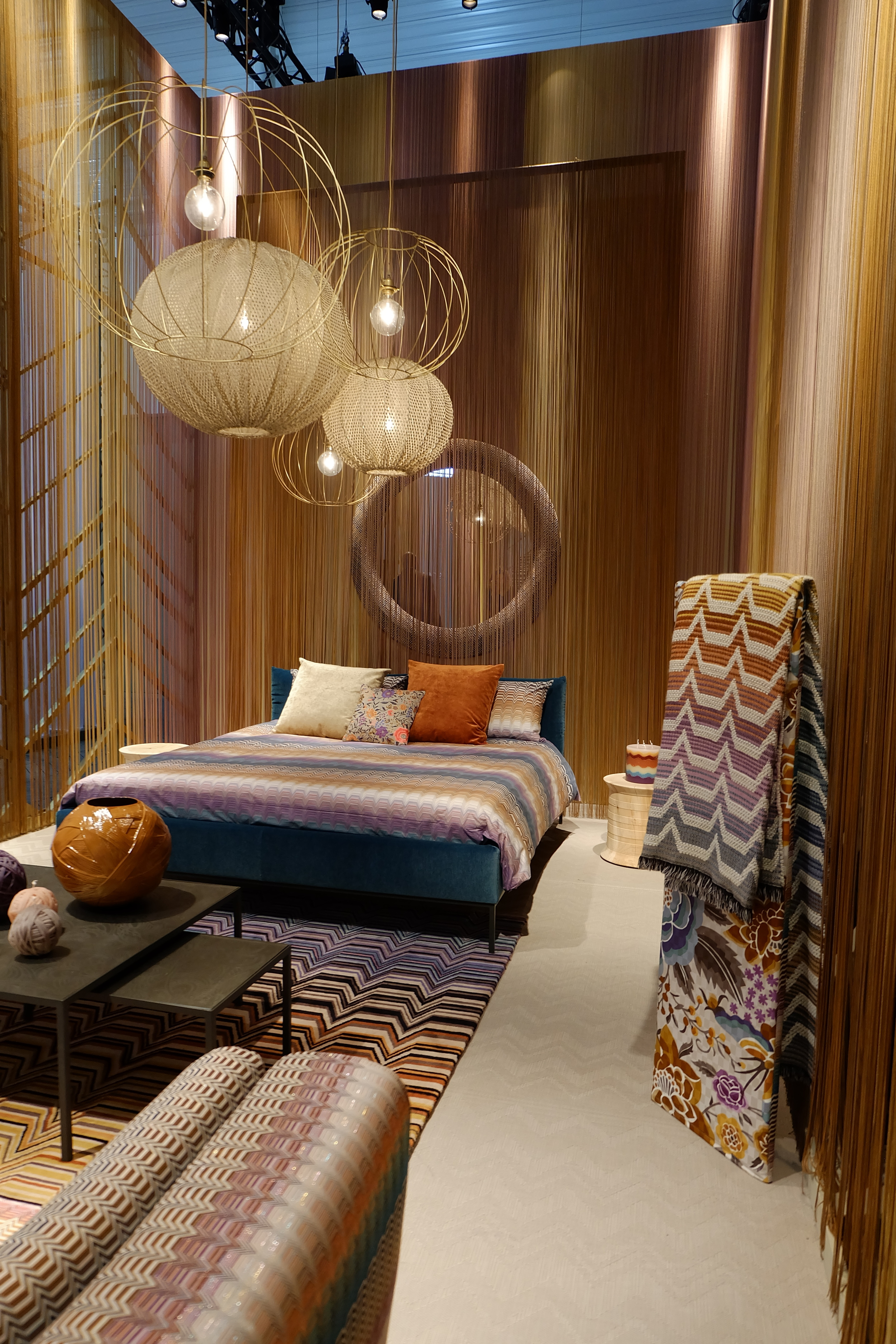 Maison & Objet 2016 Highlights - Missoni stand - warm earthy tones | MSH Agency