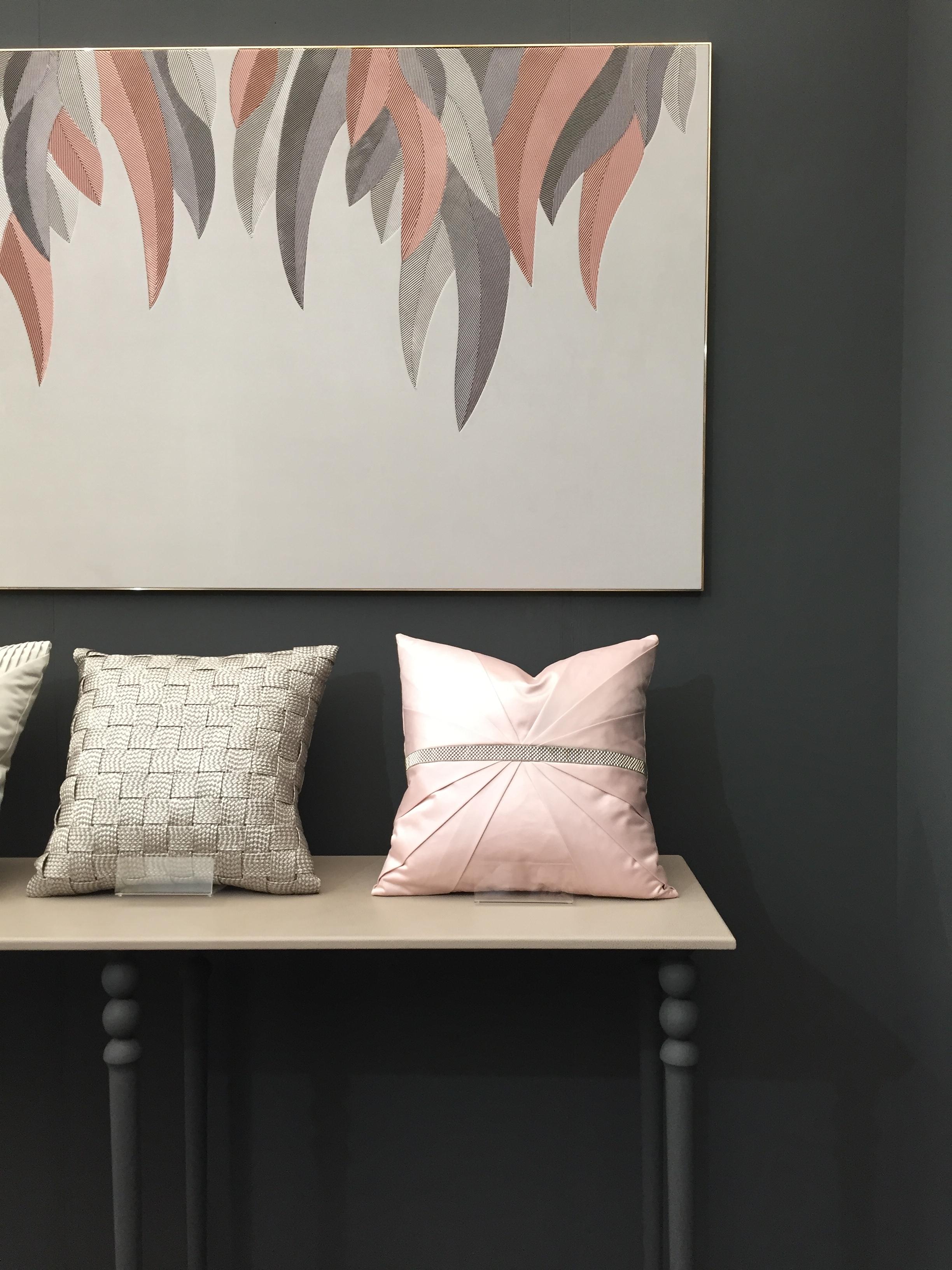 Decorex 2016 - Shades of pink of specialist luxury upholstery Aiveen Daly | Masha Shapiro Agency.JPG