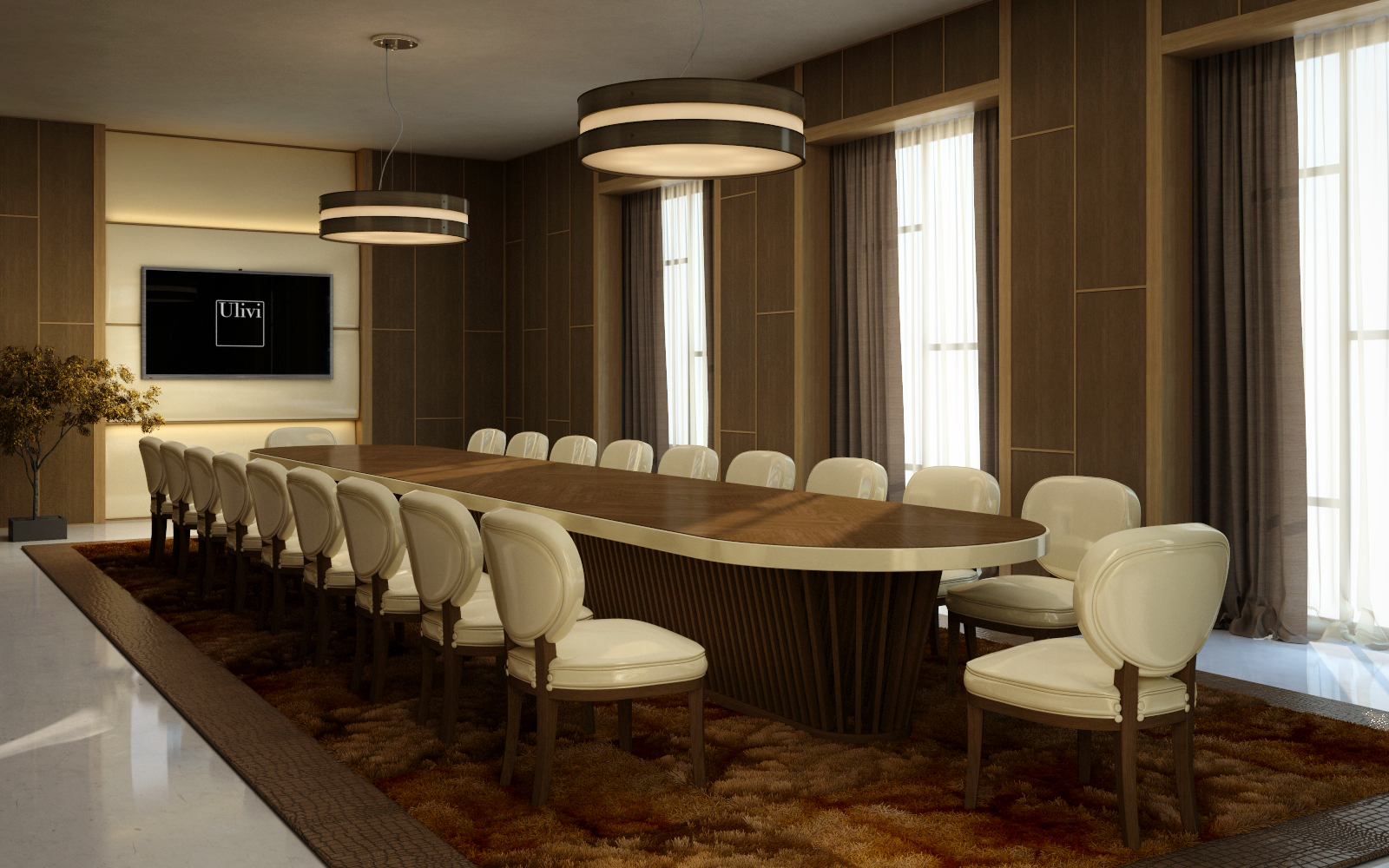 Ulivi Salotti board room - An Ode to Leather @ Masha Shapiro Agency .jpg