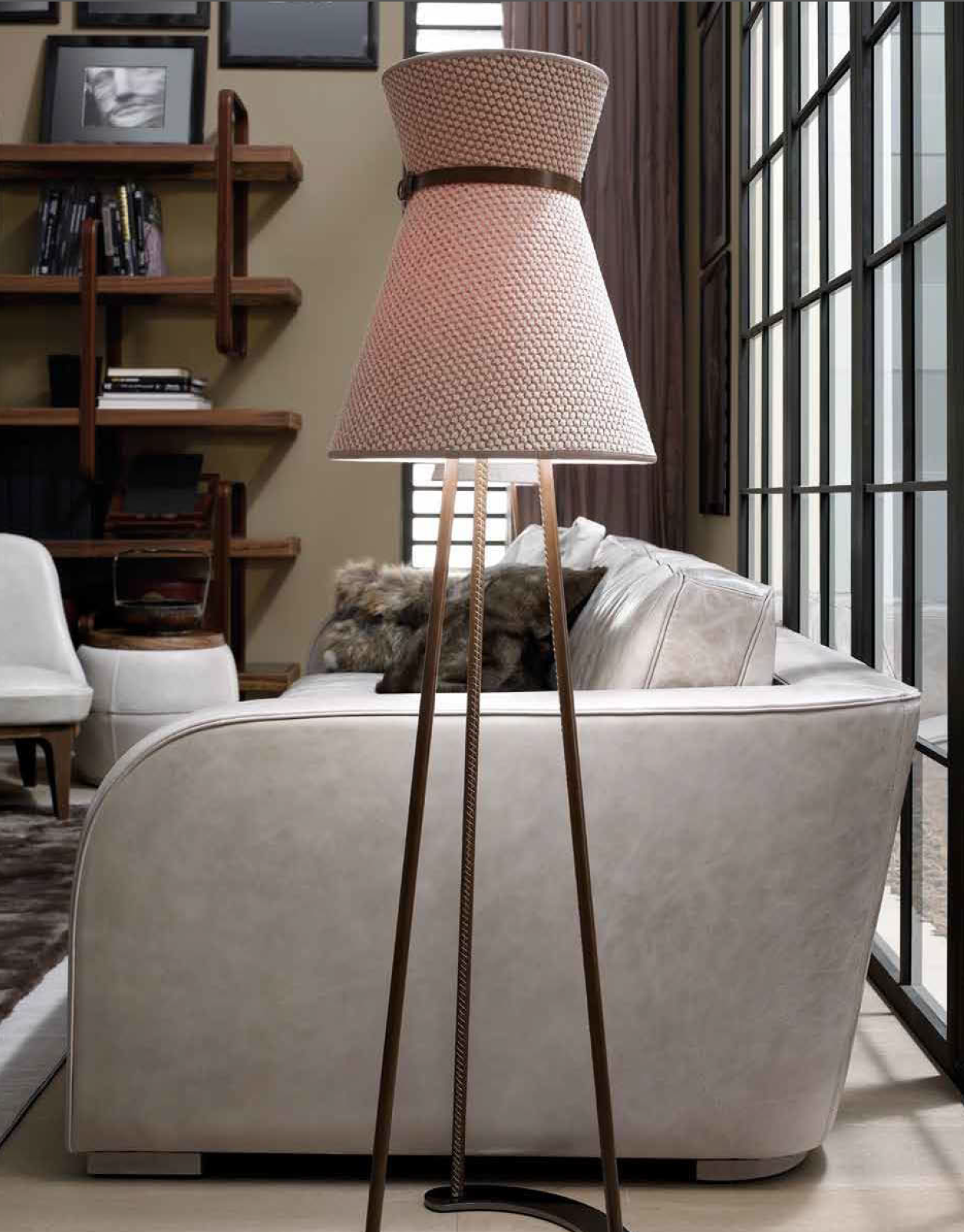 Ulivi Salotti Mademoiselle floor lamp - An Ode to Leathers @ Masha Shapiro Agency.jpg