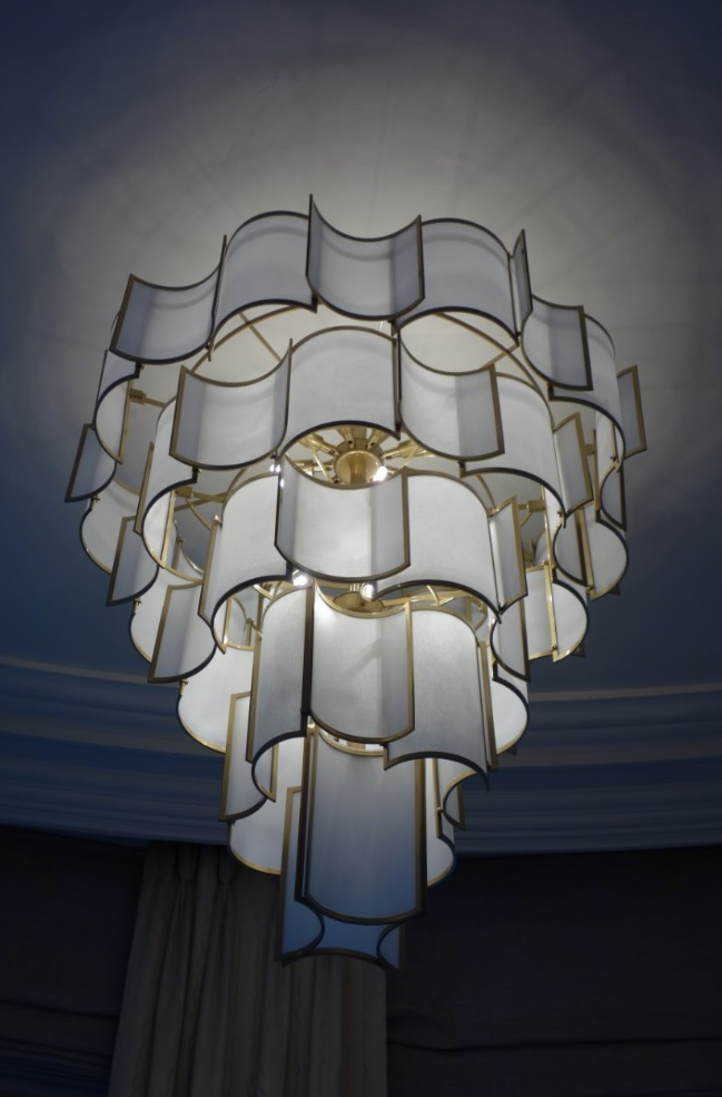 Officina Luce SHADE chandelier, luxury lighting, London, England via BCS Agencies UK