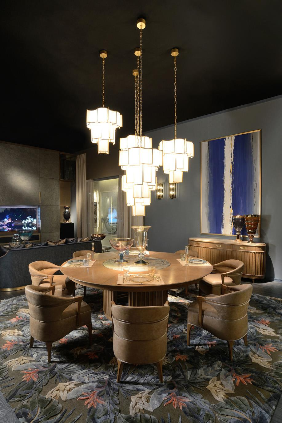 Shade chandelier by Officina Luce at Salone del Mobile - Masha Shapiro Agency UK.jpg