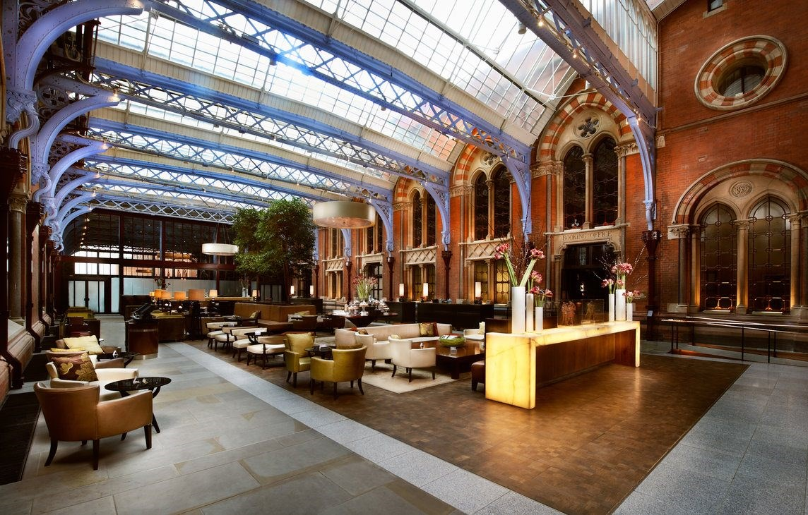 Tech in Interiors - Lobby of iconic St.Pancras Reneissance Hotel in London - Masha Shapiro Agency UK.jpg