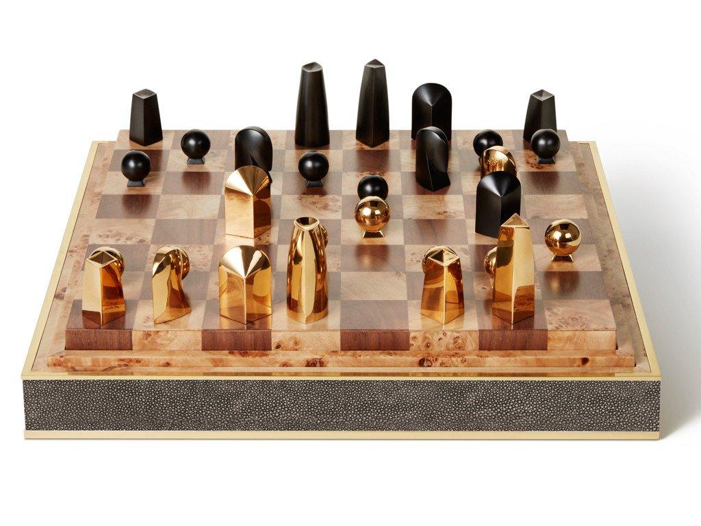 Interiors Advent Calendar - AERIN chess set with shagreen detail - Masha Shapiro Agency UK.jpg