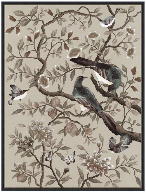 Interiors Advent Calendar - Diane Hill Design Felicity Print Neutral Chinoiserie Artwork - Masha Shapiro Agency UK.jpg