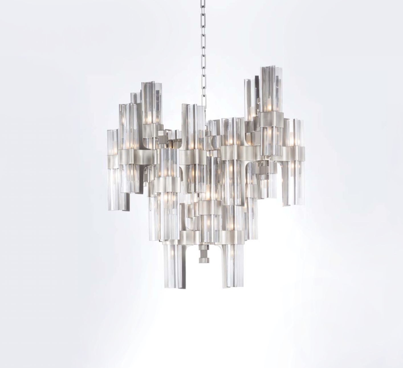 Officina Luce Eterea chandelier in silver via Masha Shapiro Agency UK.jpg