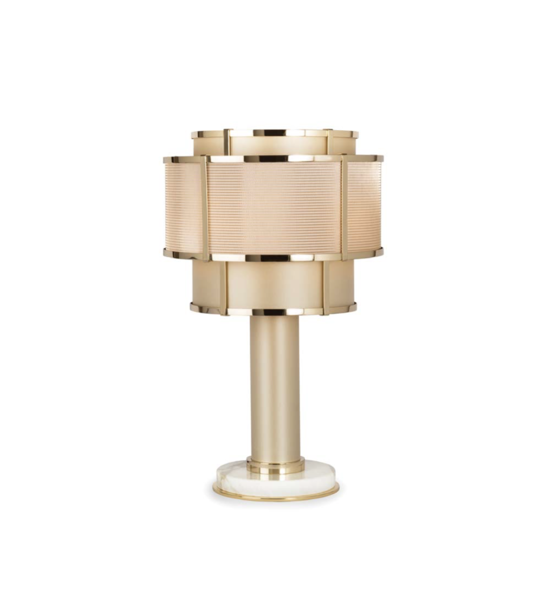 Officina Luce Nest table lamp in polished gold finish via Masha Shapiro Agency UK.jpg