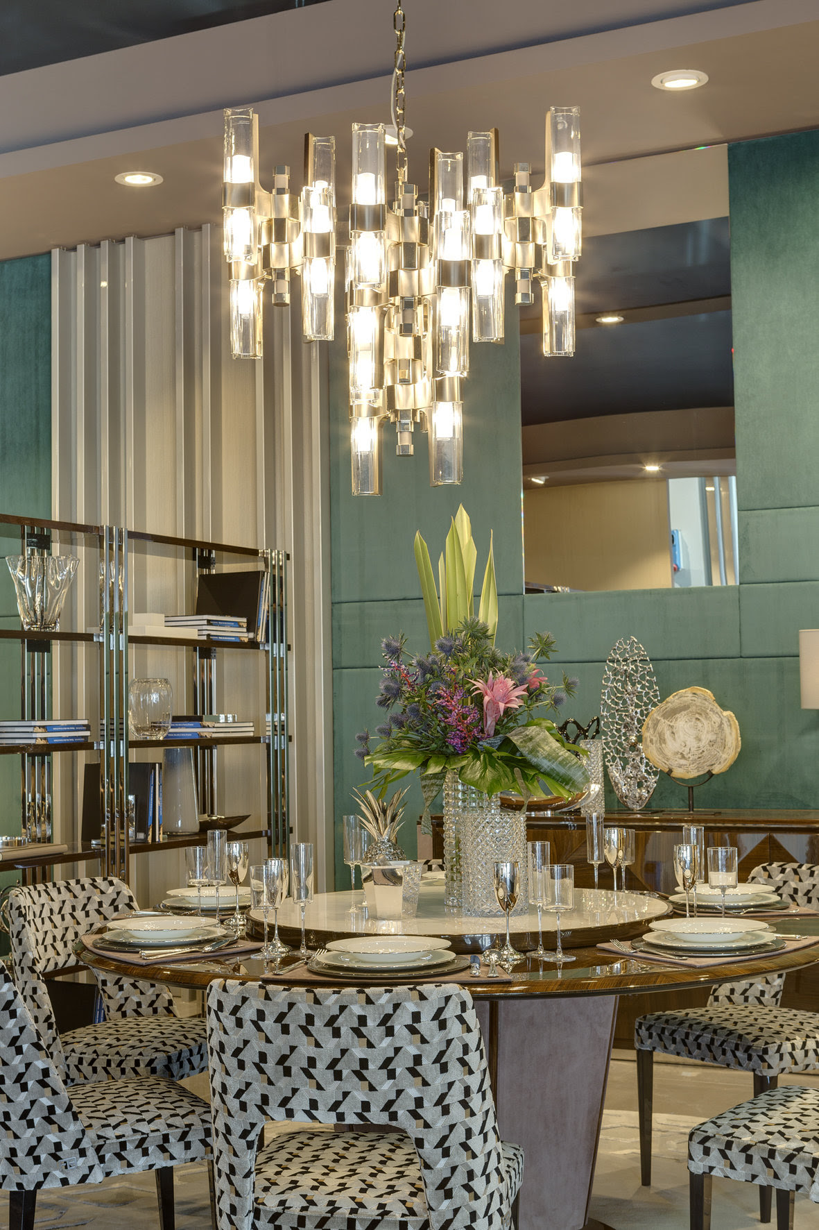 MSH at Salone - Officina Luce magnificent Eterea chandelier - Masha Shapiro Agency UK.jpg
