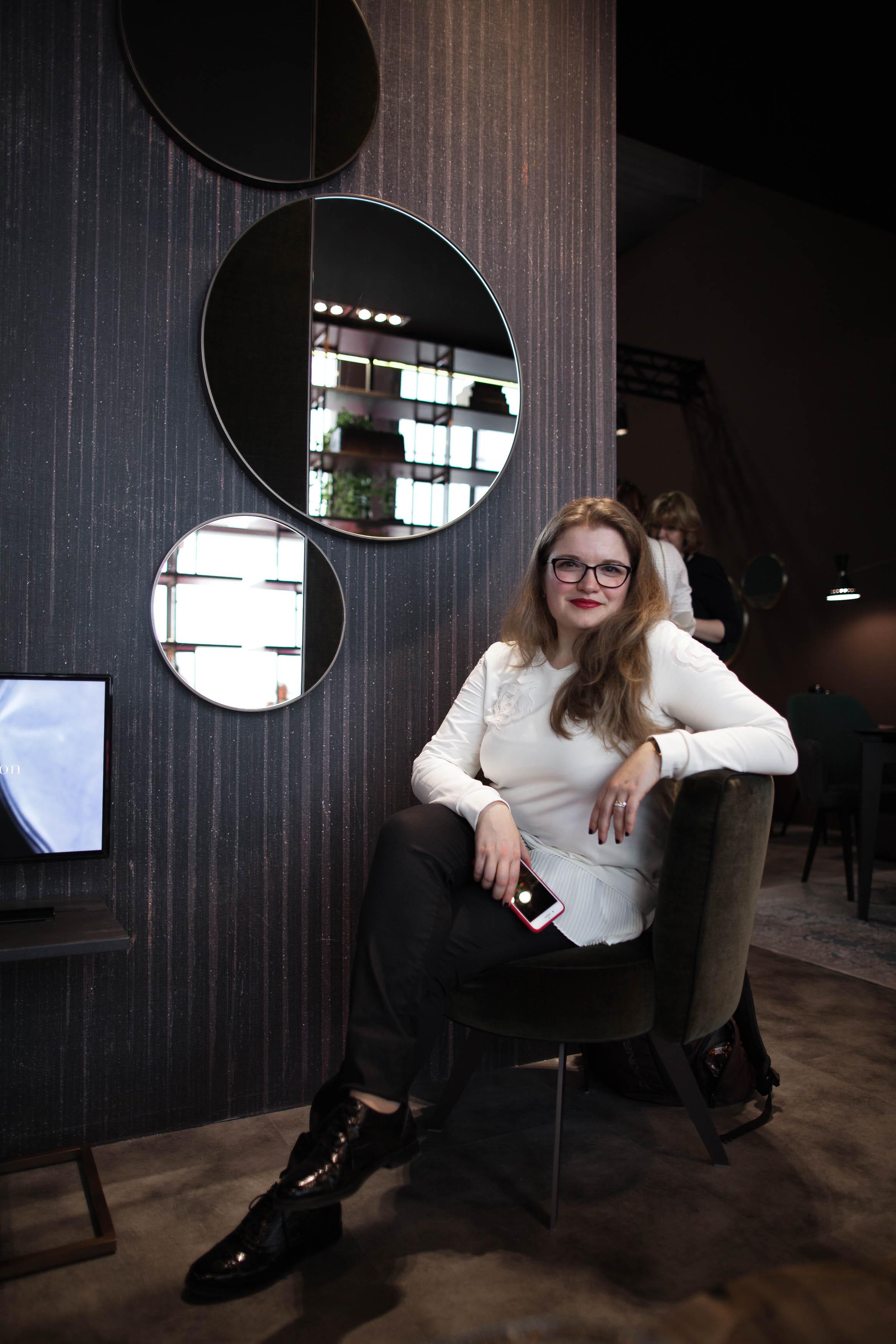 MSH at Salone - Borzalino half moon mirrors - Masha Shapiro Agency UK.jpg