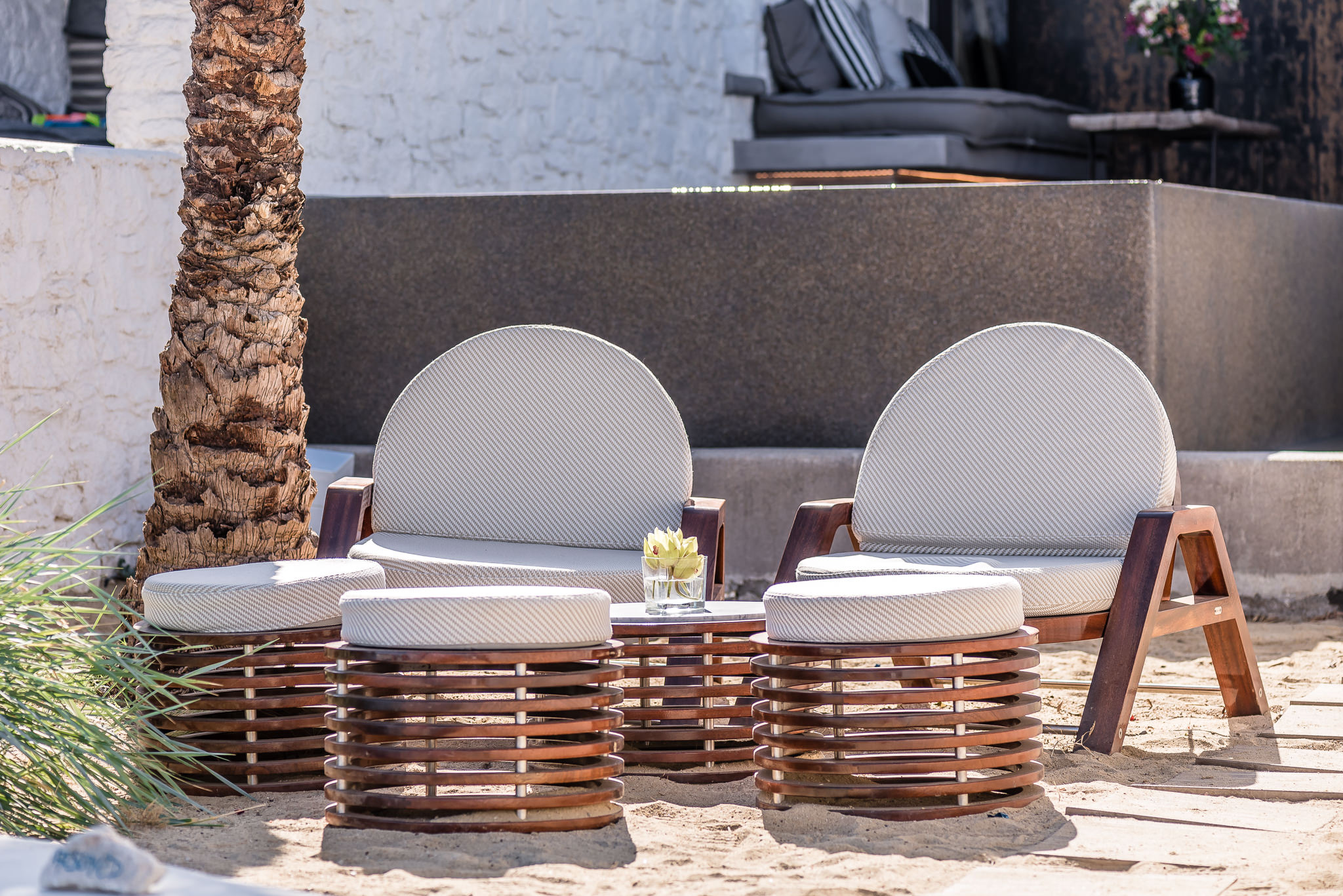 Seora Nammos Mykonos Beach Project with Azure deck chairs, Portofino stools and Brera side table - Masha Shapiro Agency UK.jpg