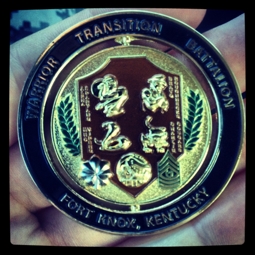 Warrior Transition Battalion Coin of Excellence
