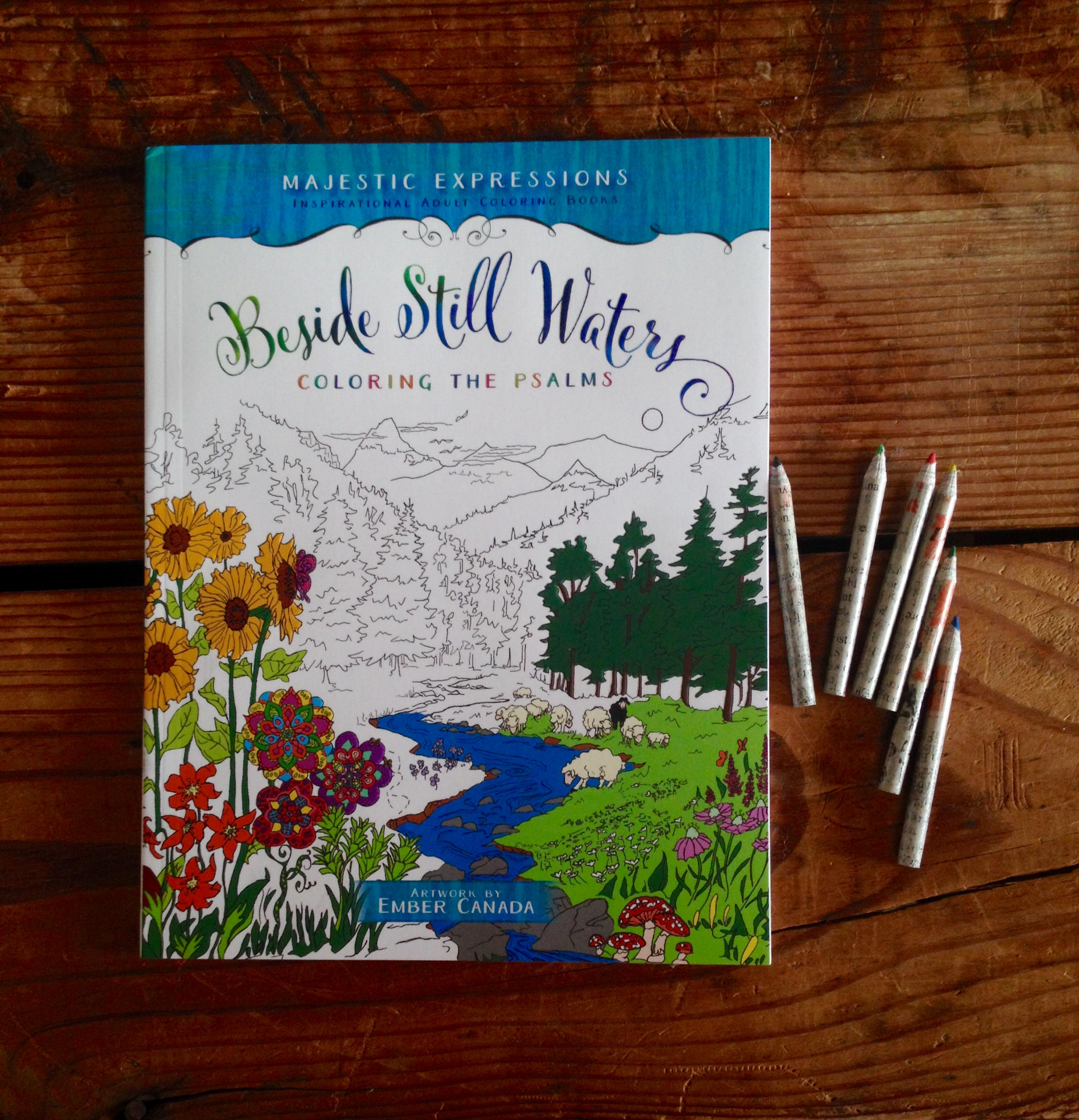 45 Illustrations, Adult Coloring Book
